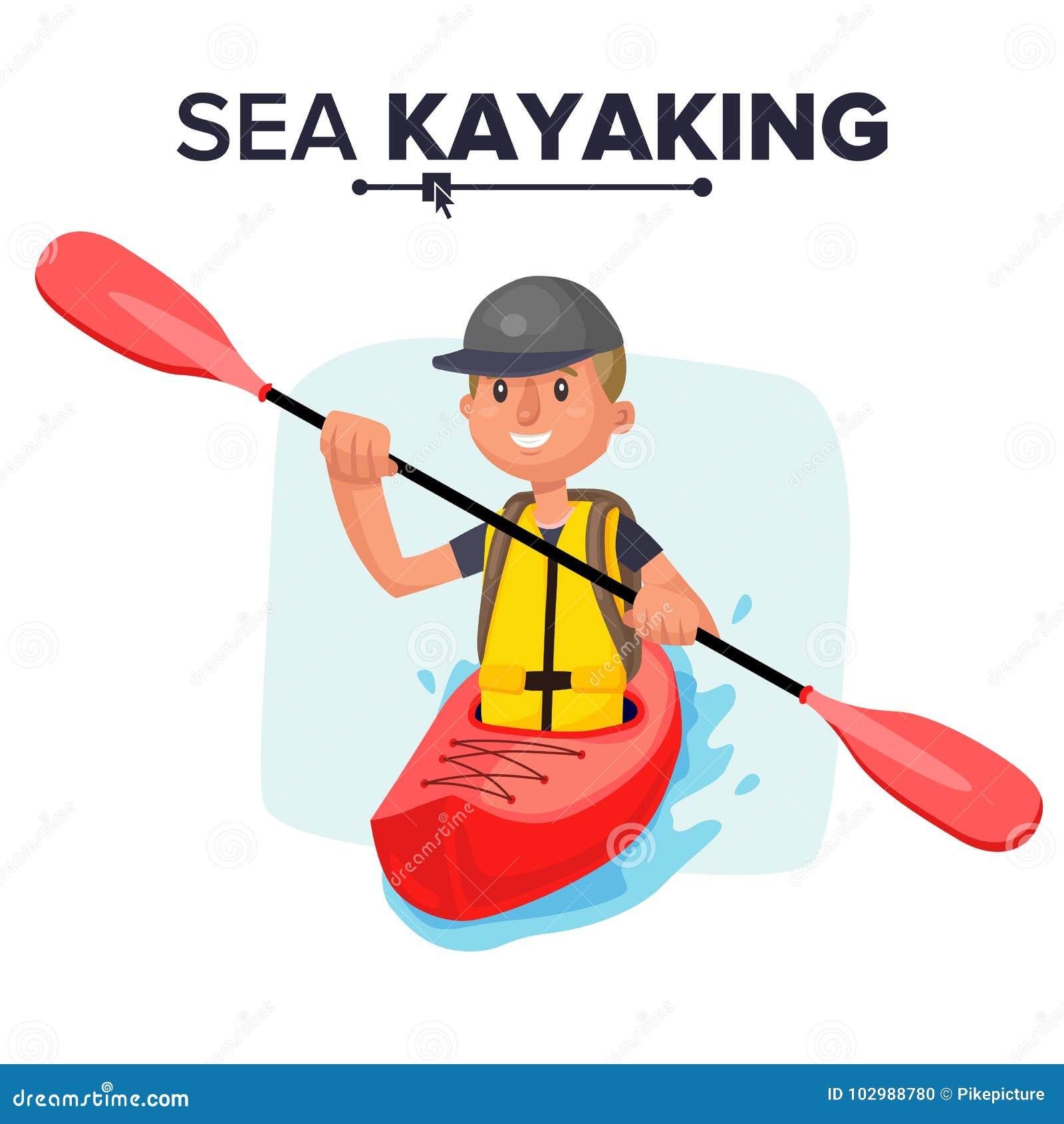 Kayaking JacketPaddle OarKayak VectorRaftingVest Boat Man srtdQCh