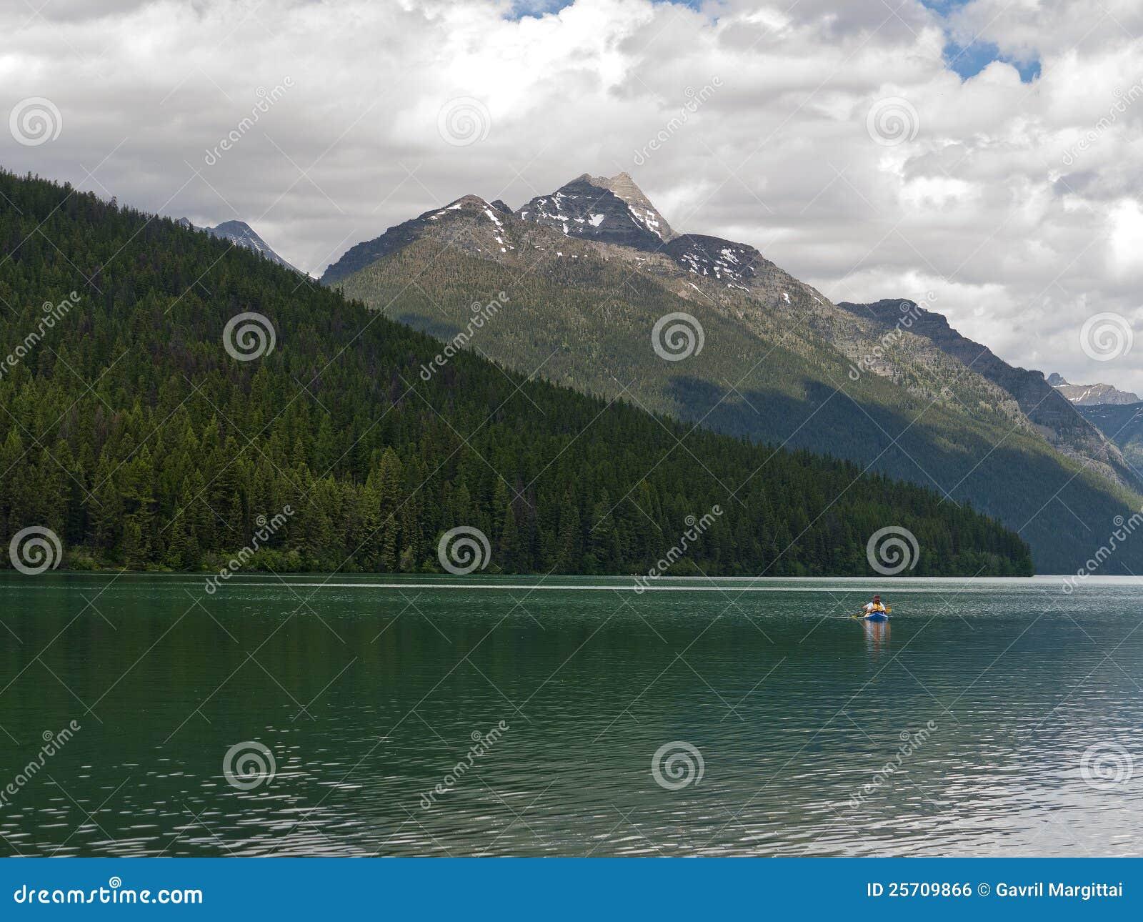 Kayaking nel lago bowman