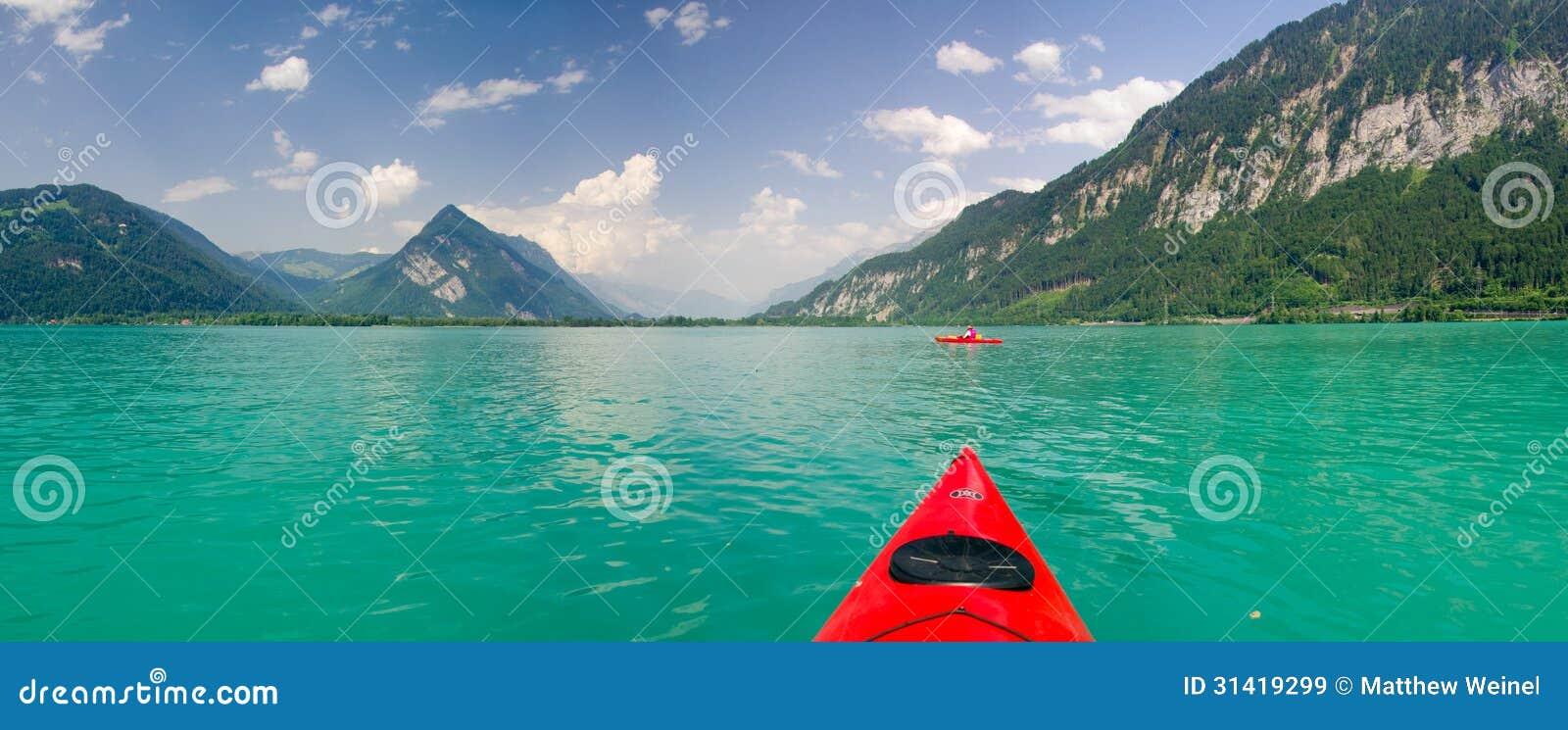 Kayaking op Thunersee