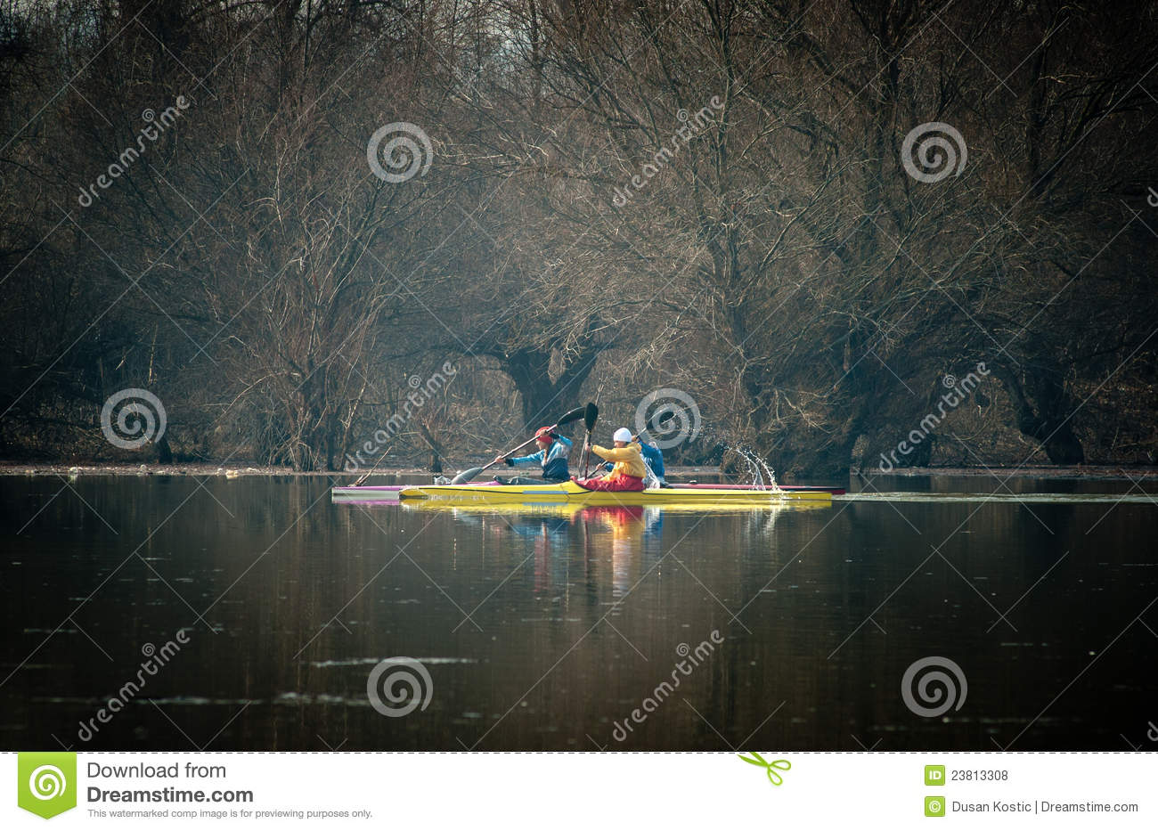 Kayaking on the river