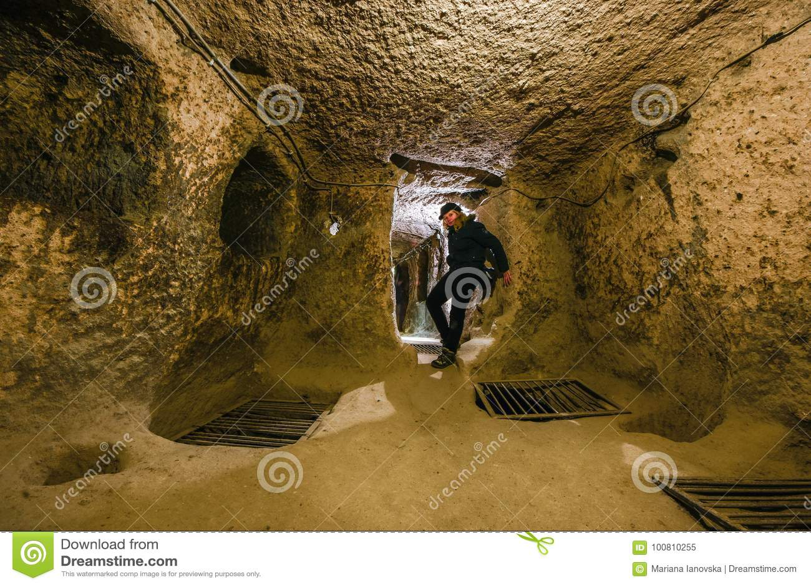 Kaymakli地下市在Kaymakli城堡内包含在土耳其的中部安那托利亚地区