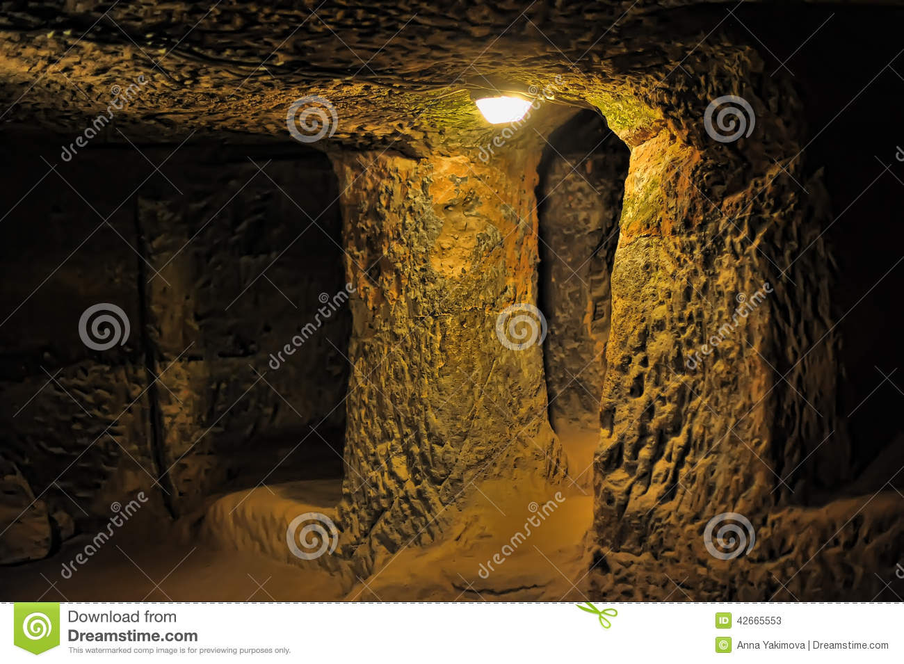 Kaymakli Underground City Stock Photo - Image: 42665553