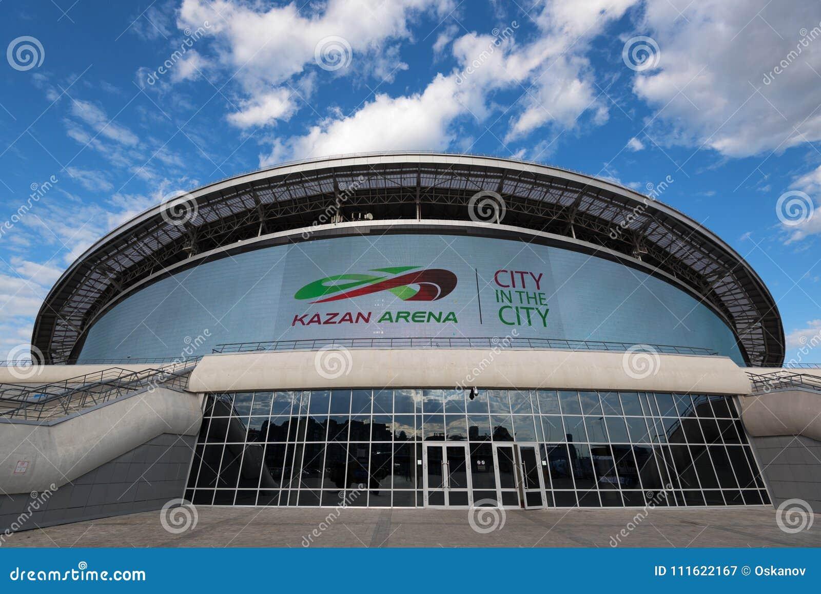 KAZÁN, RUSIA - 3 DE JUNIO DE 2016: Arena de Kazán del estadio en Rusia