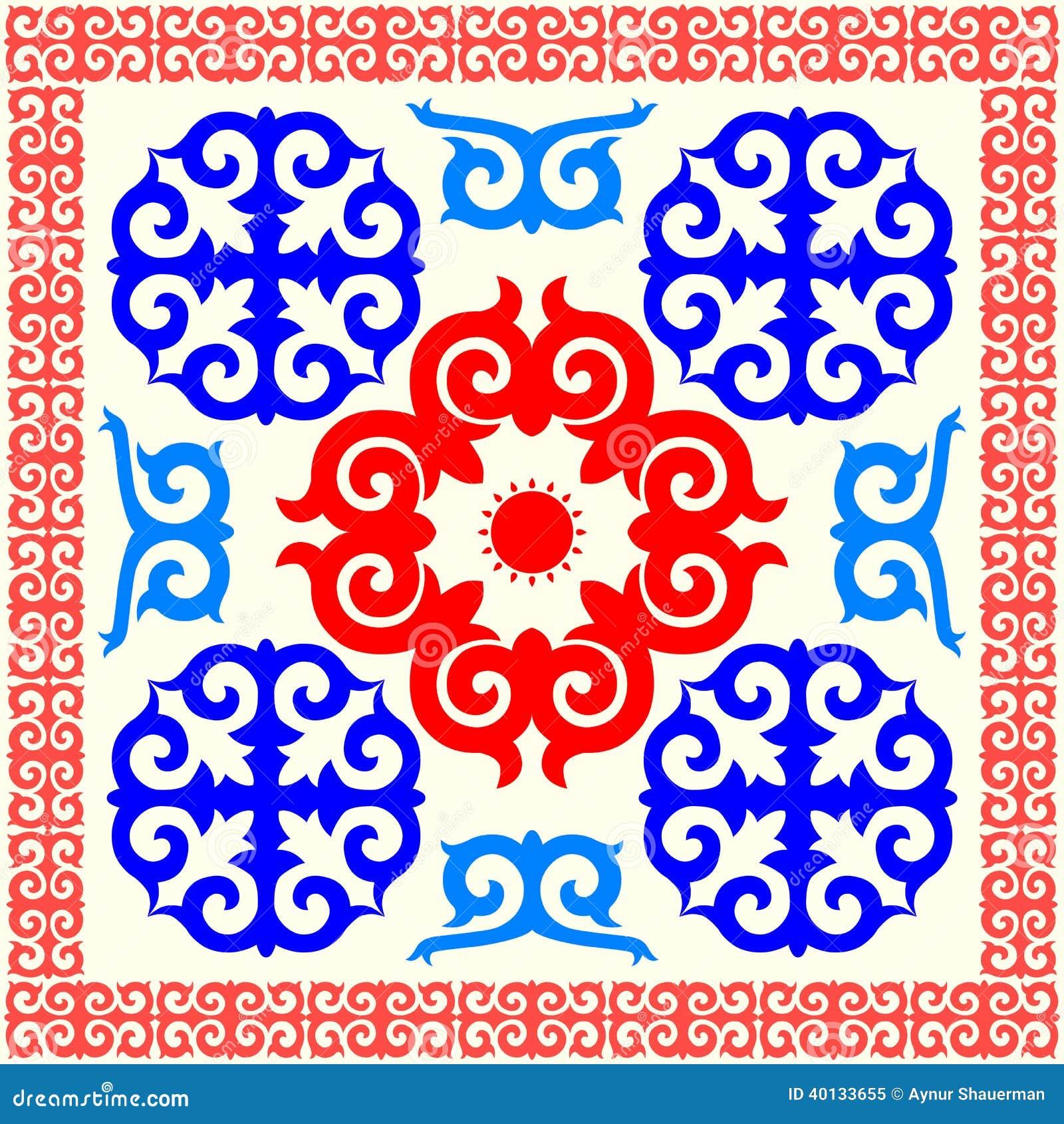Казахские орнамент и узоры в картинках