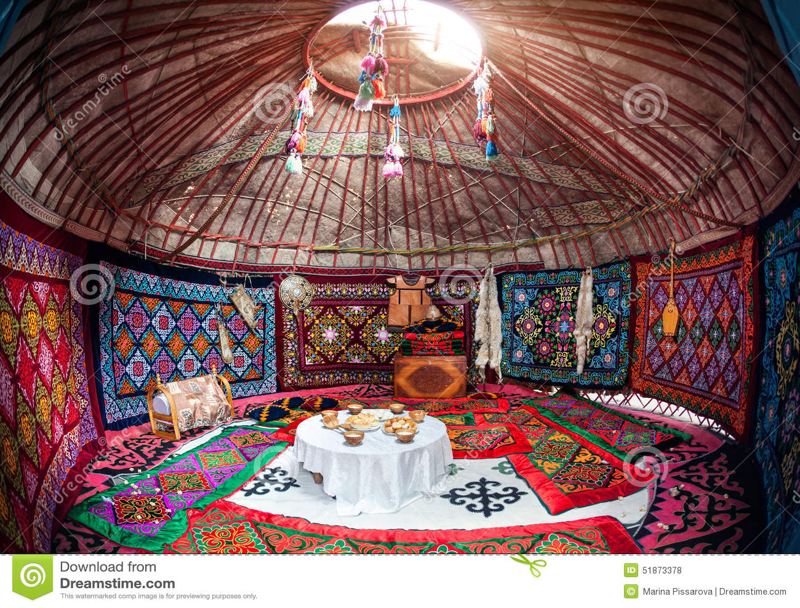 Kazakh Yurt Interior Stock Photo Image Of Kyrgyzstan