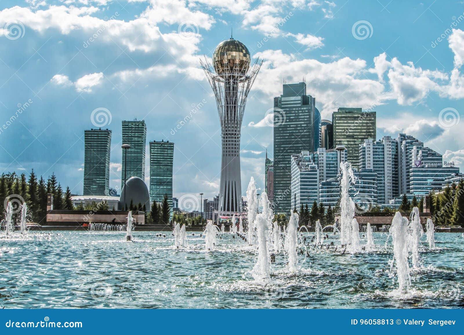 Kazakhstan astana Quart d affaires au centre de la ville
