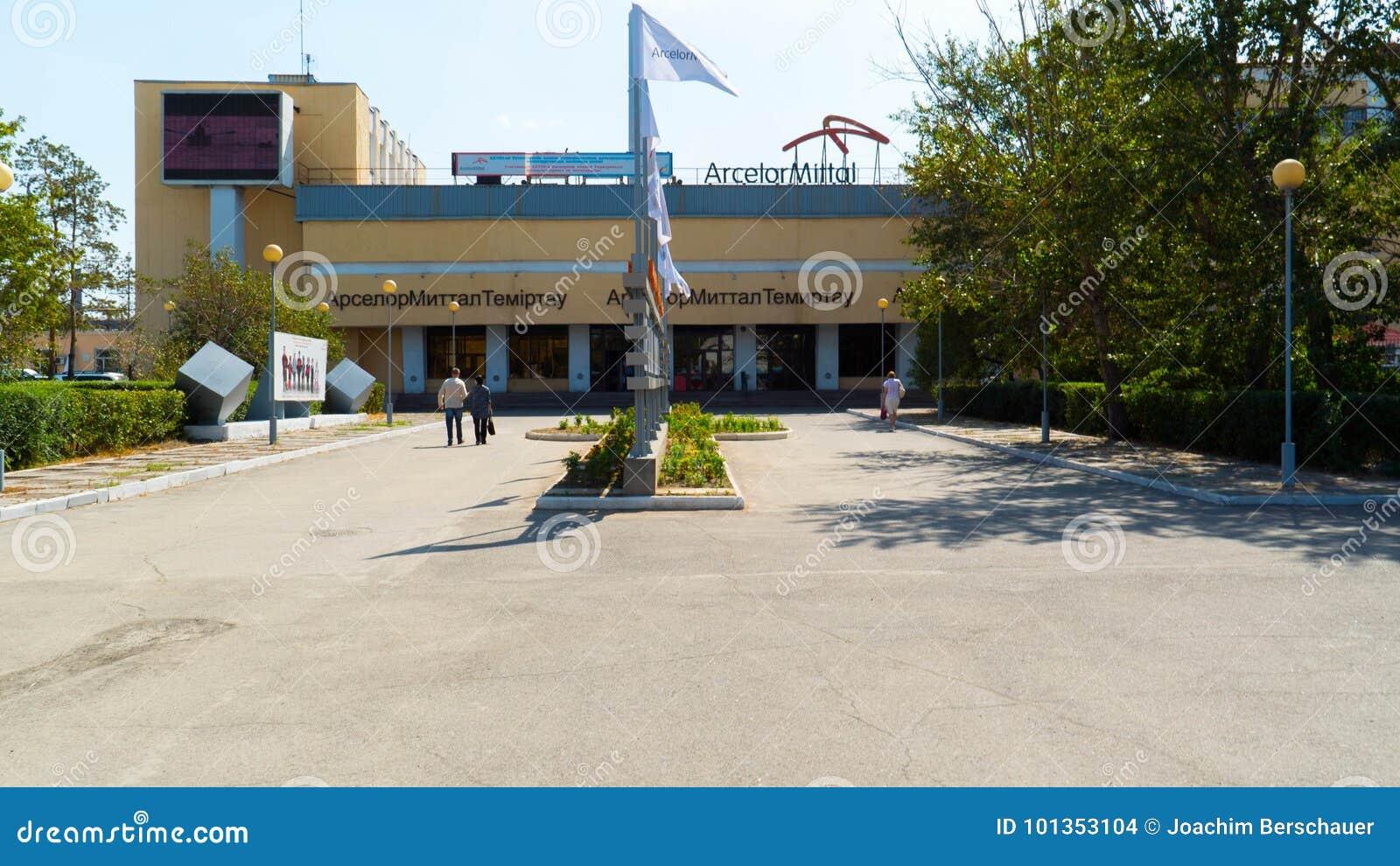 Kazakhstan the main entrance to the metallurgical plant arcelor kazakhstan the main entrance to the metallurgical plant arcelor mittal in the city of temirtau editorial stock photo buycottarizona
