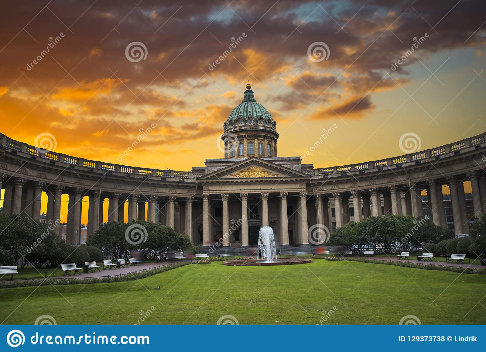 Kazan katedra w mieście St Petersburg
