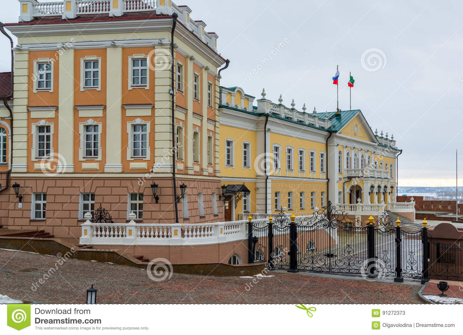 Kazan, Rusland De Noordelijke Korpsen van Kanonhof Woonplaats van de Adviseur van de Staat van Republiek Tatarstan