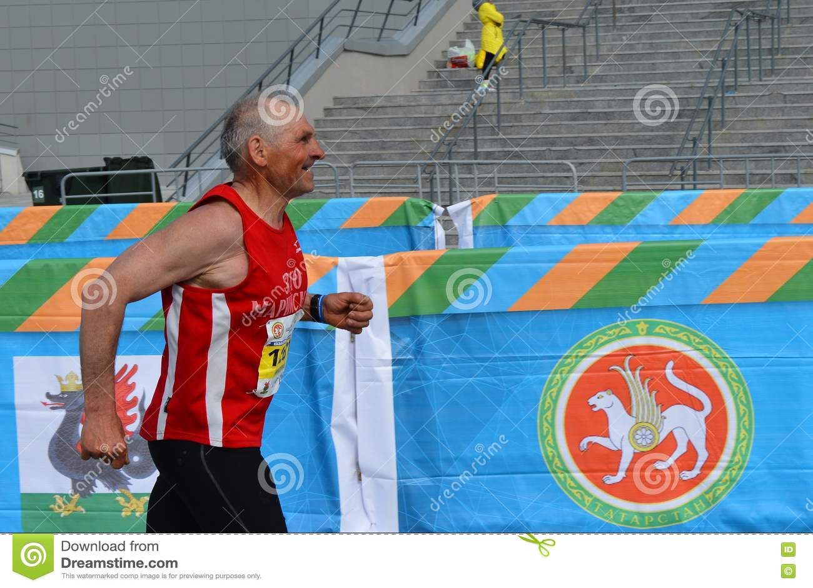 KAZAN, RUSSIA - MAY 15, 2016: Marathon Runners At The ...