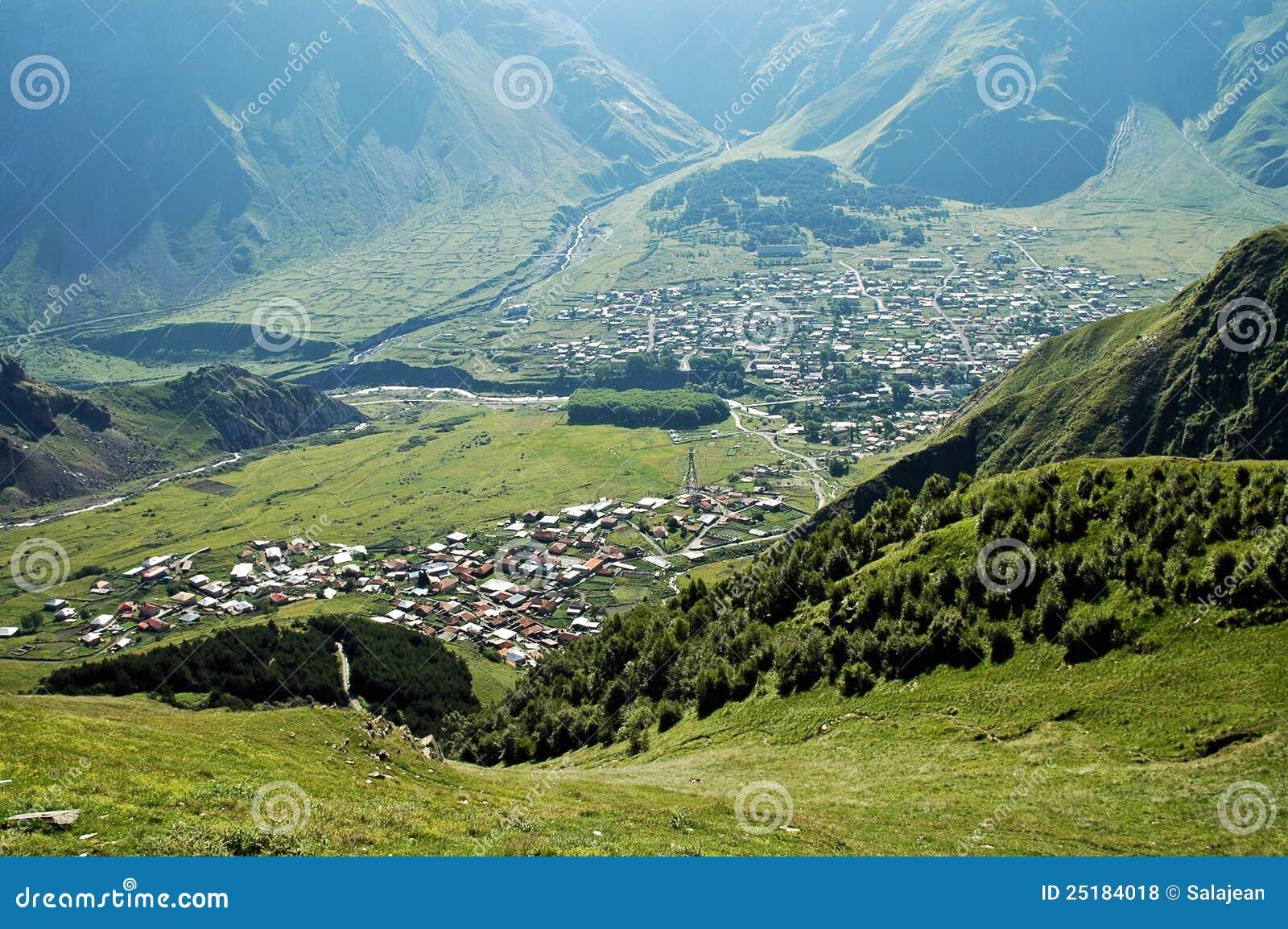 Kazbegi Stadt, Kaukasus-Berg