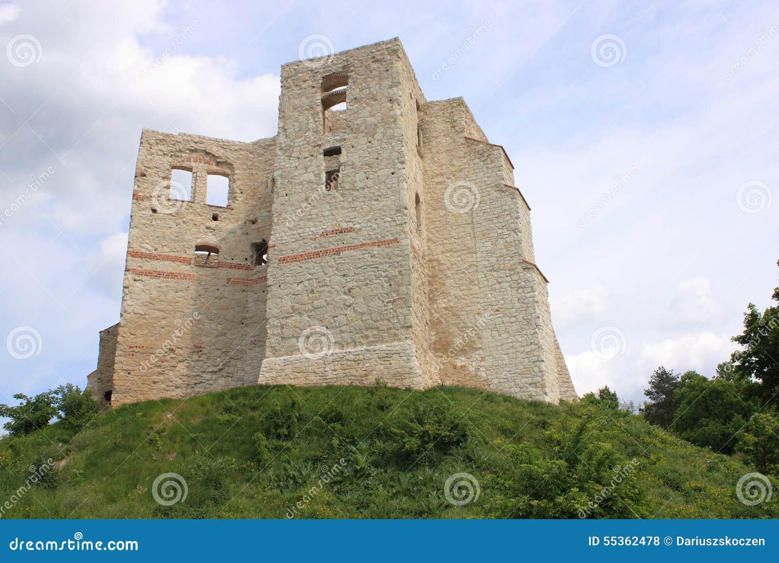 Kazimierz Dolny da tne il Vistola (Polonia) - le rovine del castello