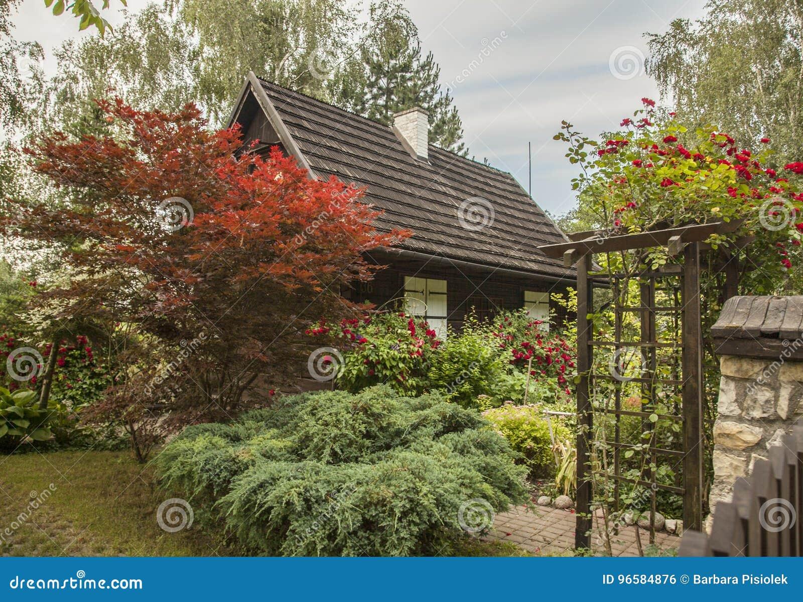 Kazimierz Dolny, Poland - An Old House/the Garden. Stock Photo ...