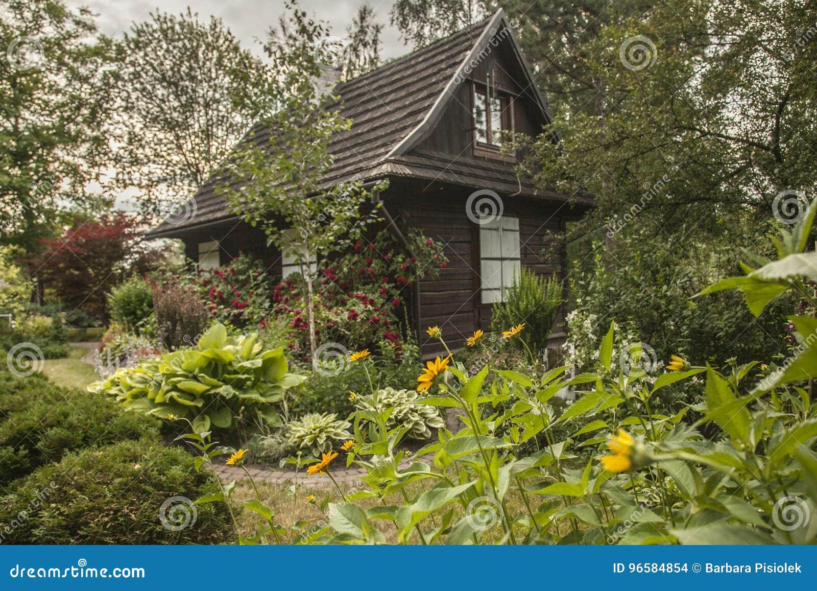 Kazimierz Dolny, Poland - An Old House In A Garden. Stock Photo ...