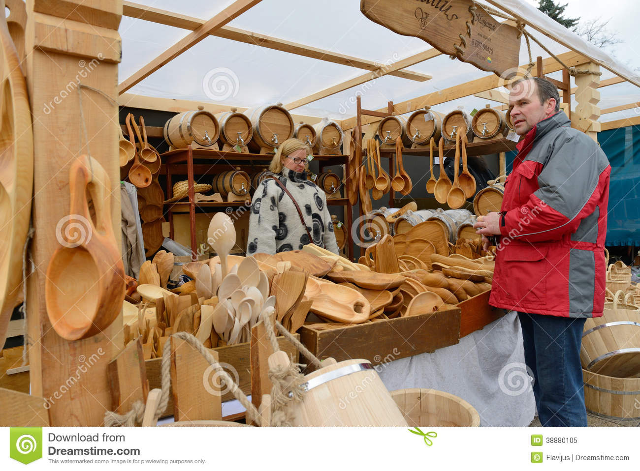... crafts fair - Kaziuko fair on Mar 8, 2014 in Vilnius, Lithuania