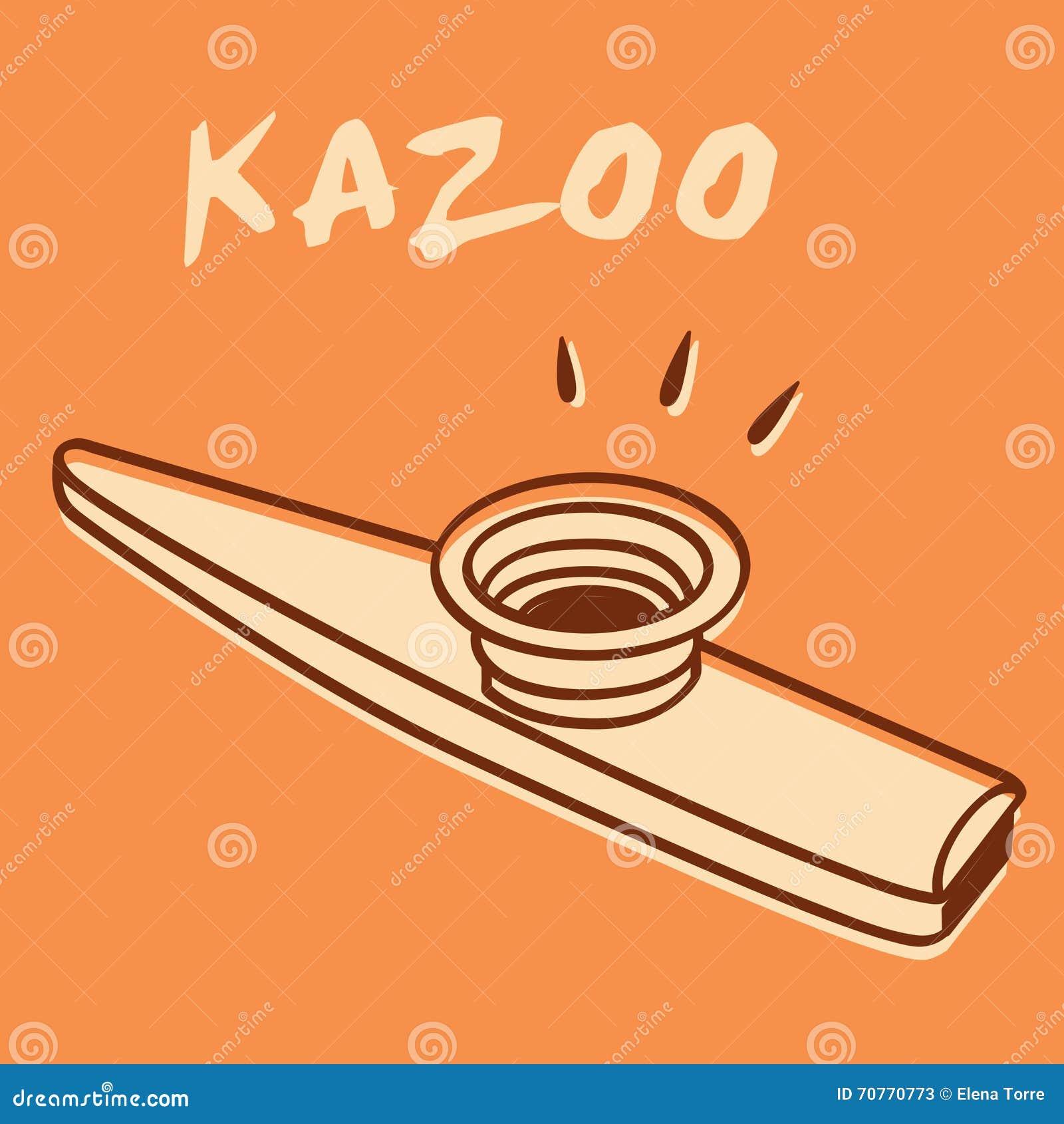 kazoo stock vector illustration of hums metal play 70770773