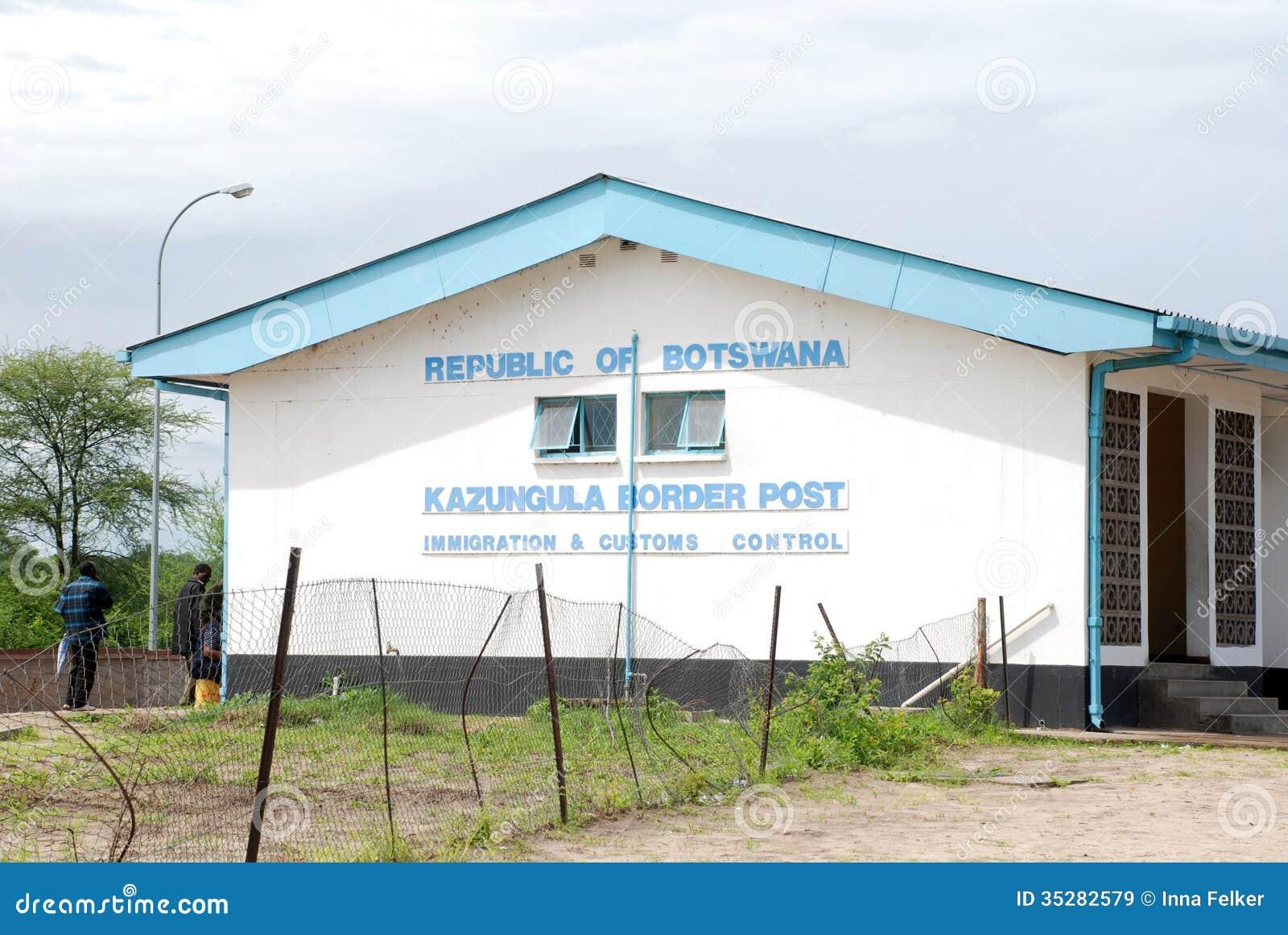 Kazungula Border Crossing Point Between Botswana And ...