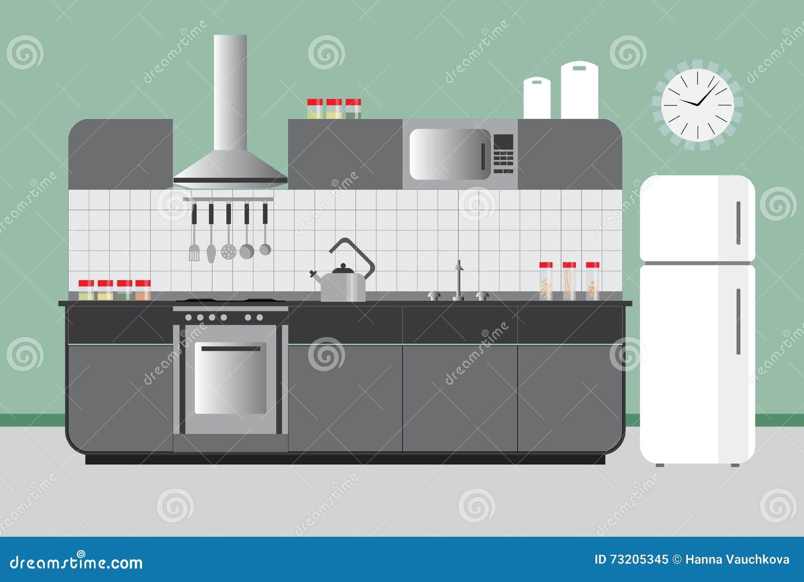 Küchen aufzug mit kabinett kühlschrank hood microvawe flacher ...