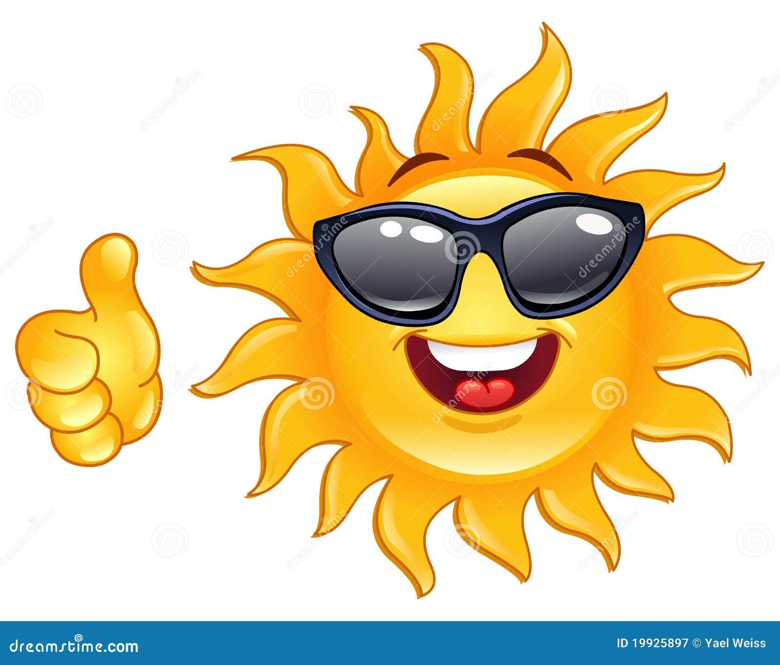 Kciuk słońce kciuk