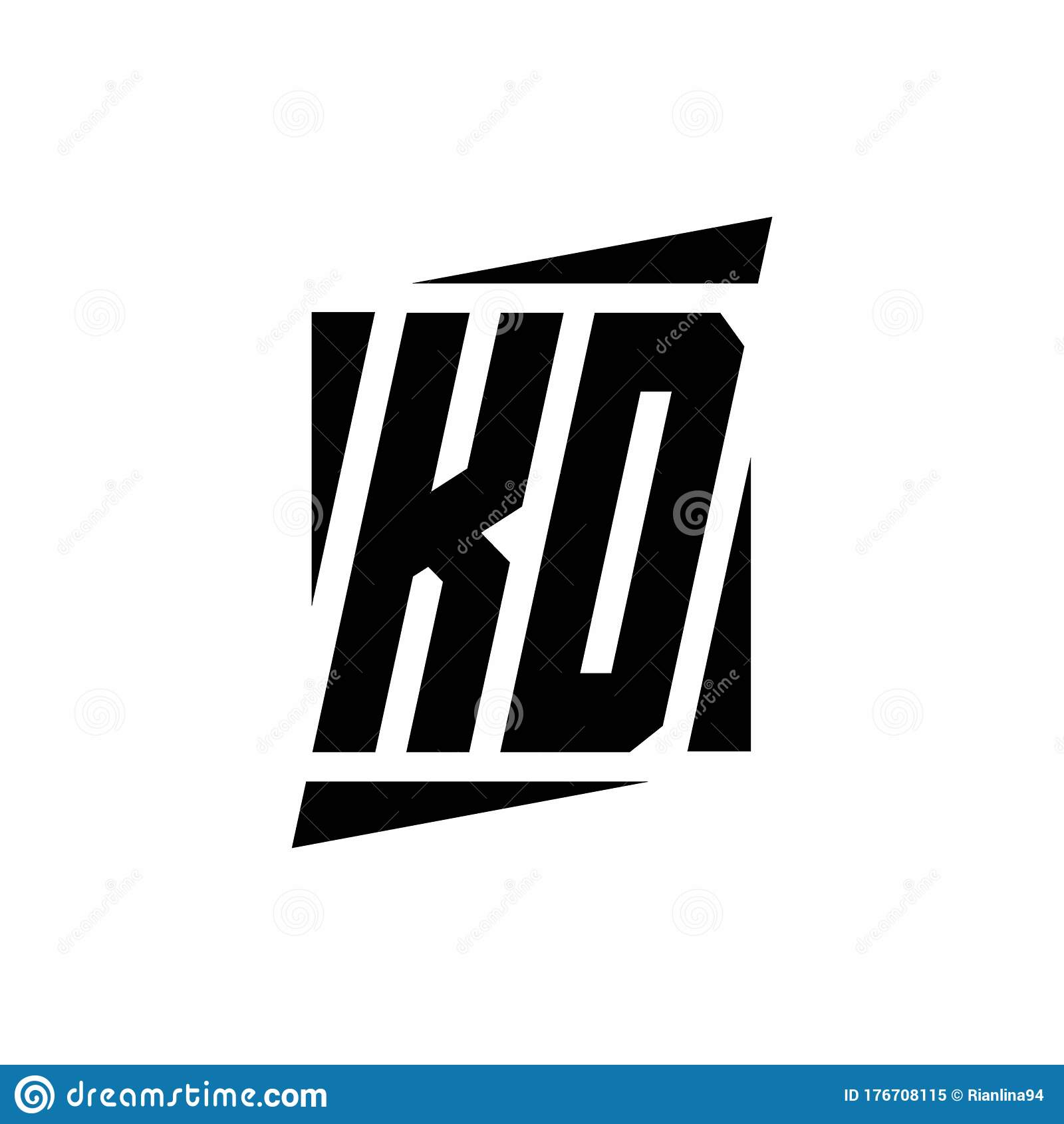 Modern Letter K Logo Concept: KD Logo Monogram With Modern Style Concept Design Template