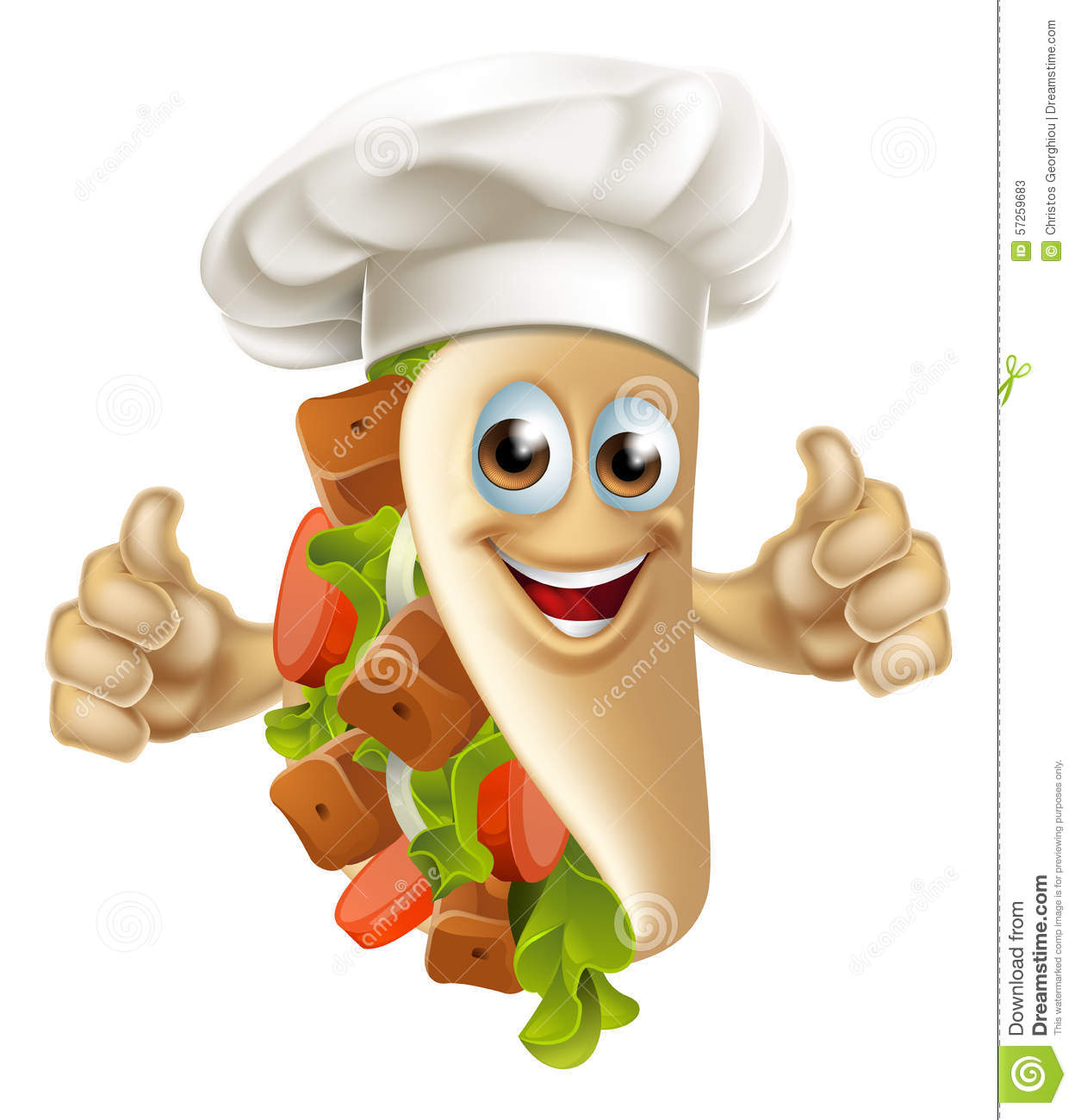 kebab chef man stock vector image 57259683 Listening Clip Art People Talking to Each Other