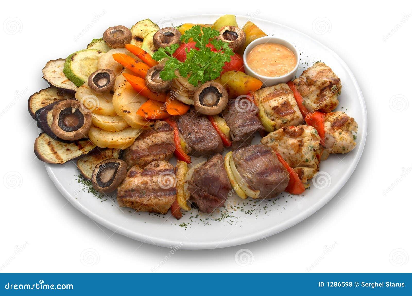 Kebab clasificado: ternera, pollo y cerdo