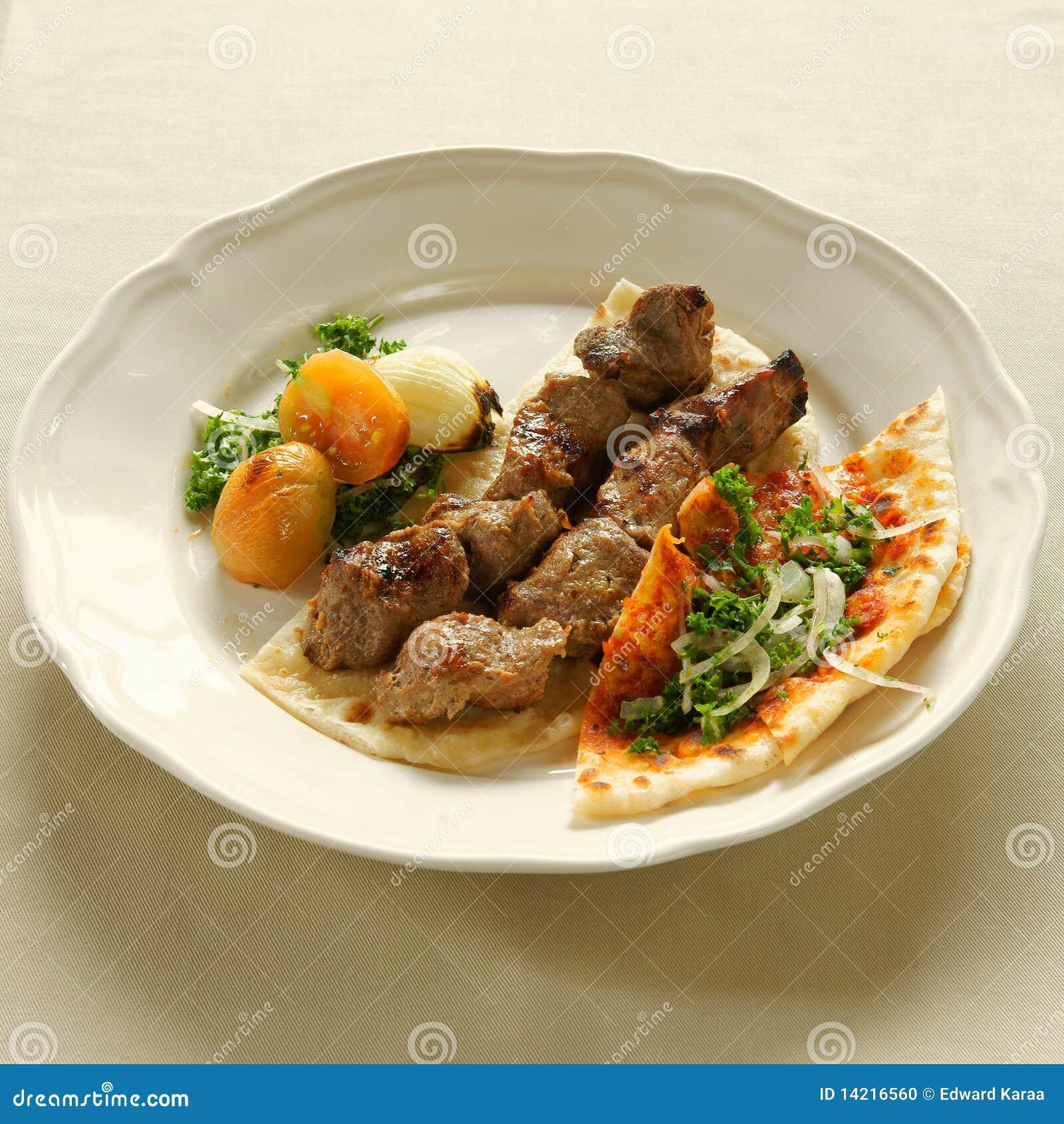 Kebab de shish agneau de bbq cuisine libanaise photo - Livre de cuisine libanaise ...