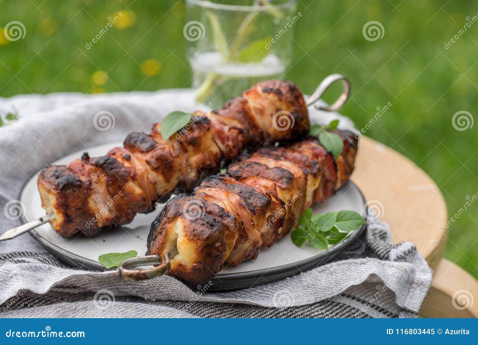 Kebab del formaggio di Halloumi