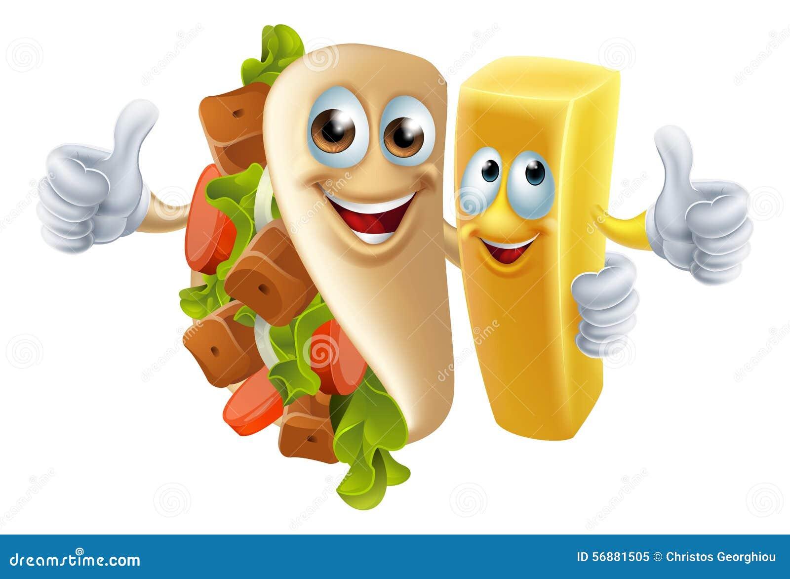 Kebab i układ scalony maskotki