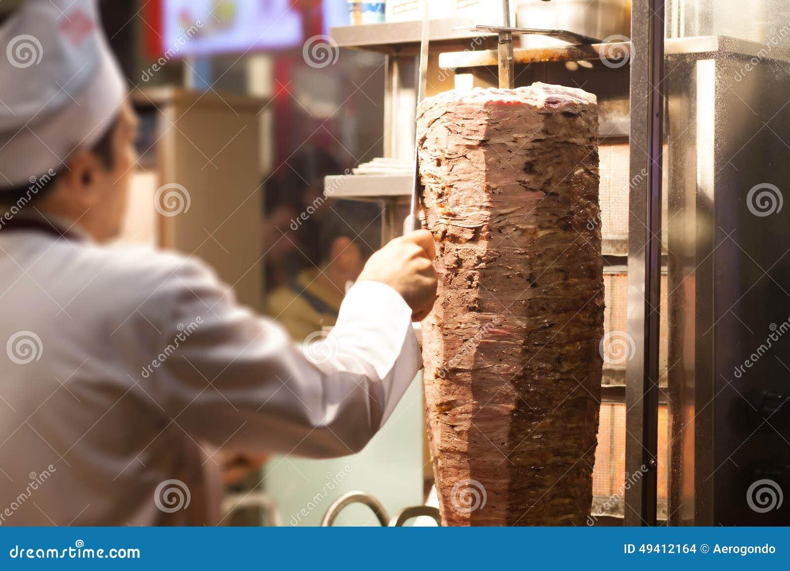 Download Kebab System stockfoto. Bild von türkisch, griechisch - 49412164