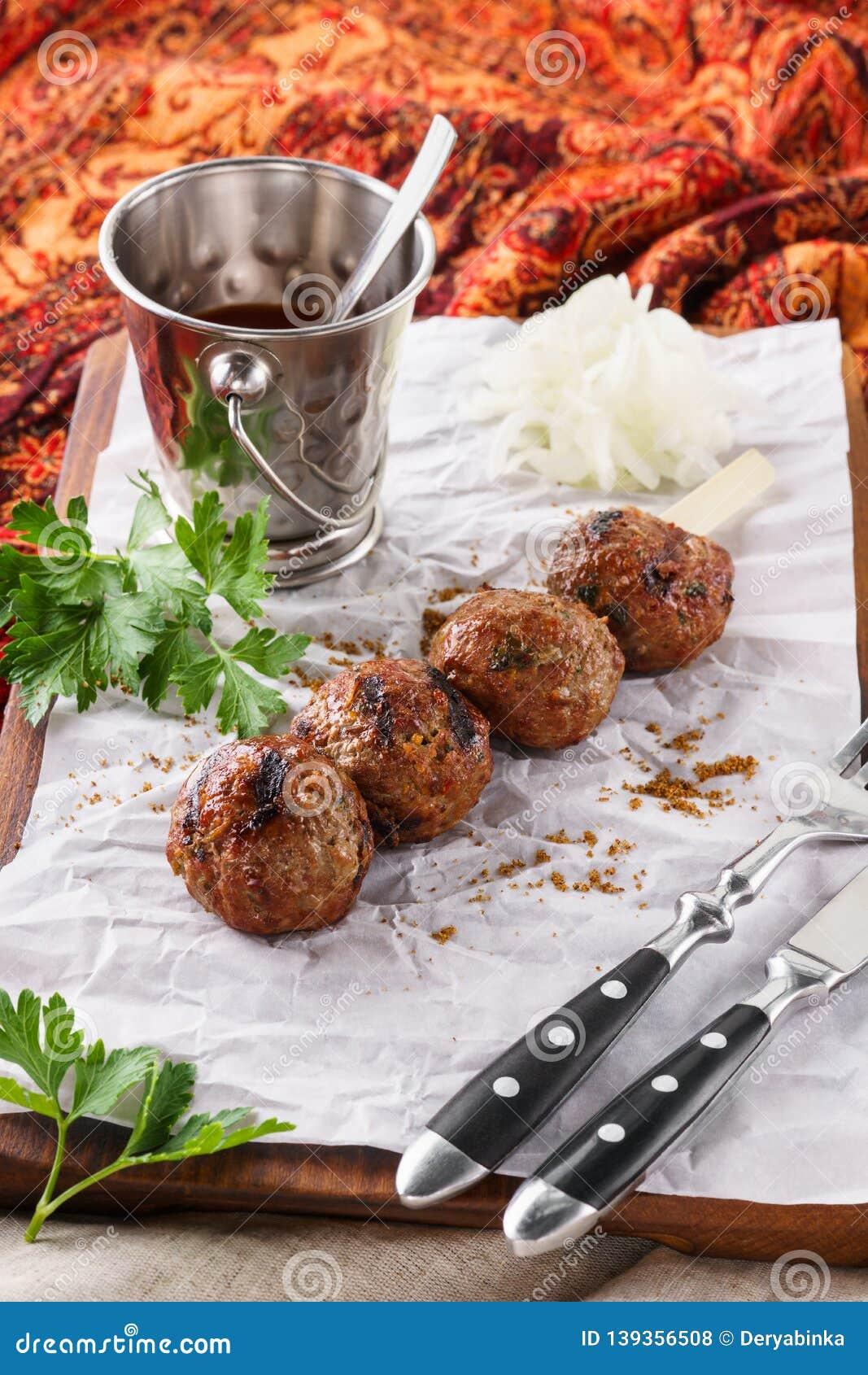 Kebab. Traditional middle eastern, arabic or mediterranean food