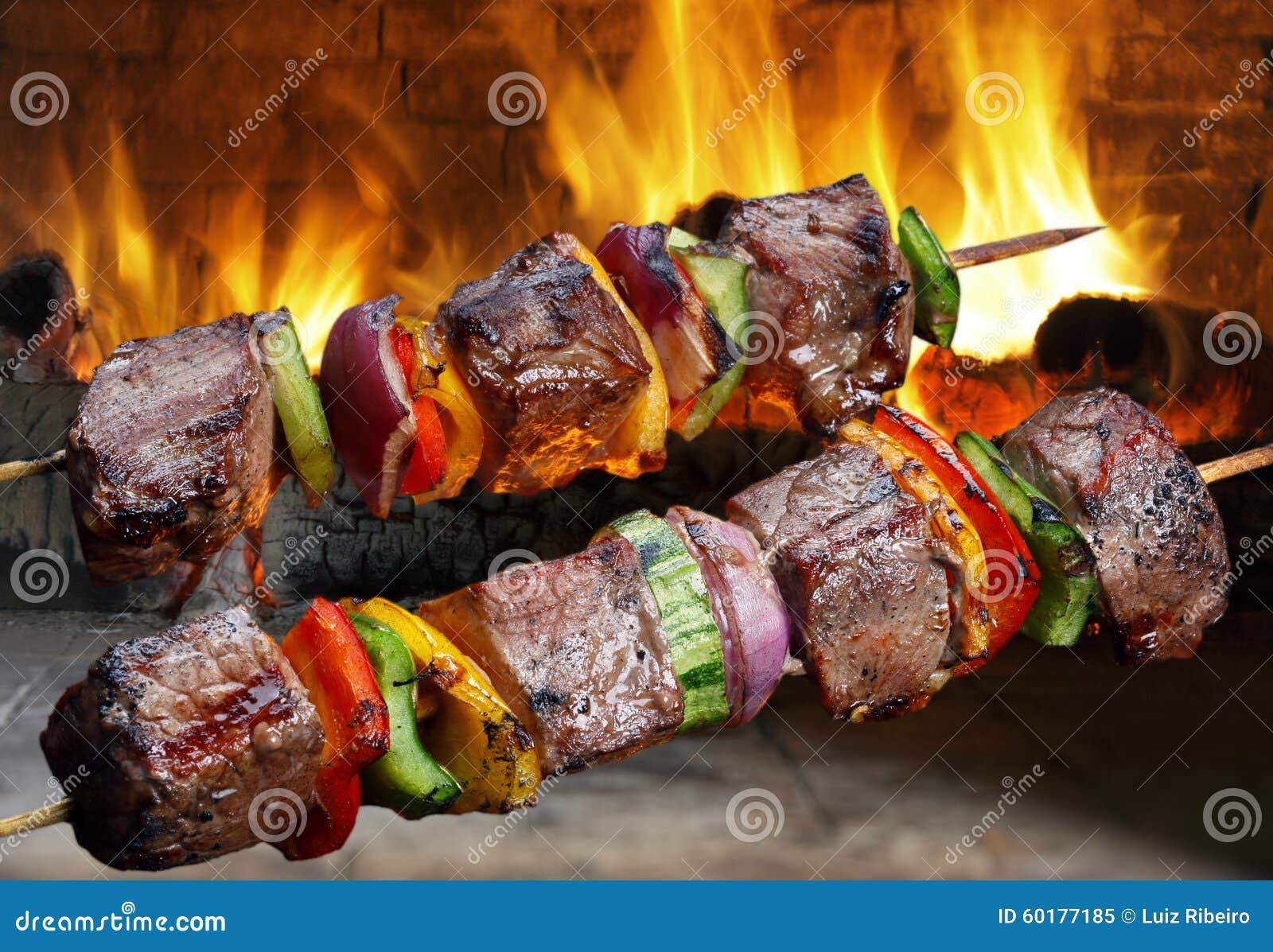 Kebaber på en steknål
