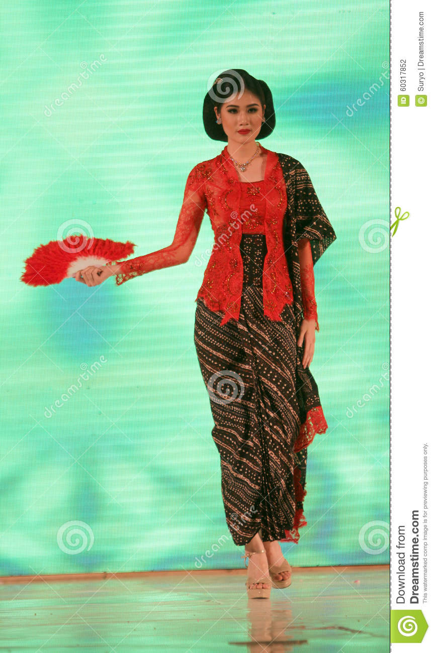 ... Kebaya in a fashion show in the city of Solo, Central Java, Indonesia