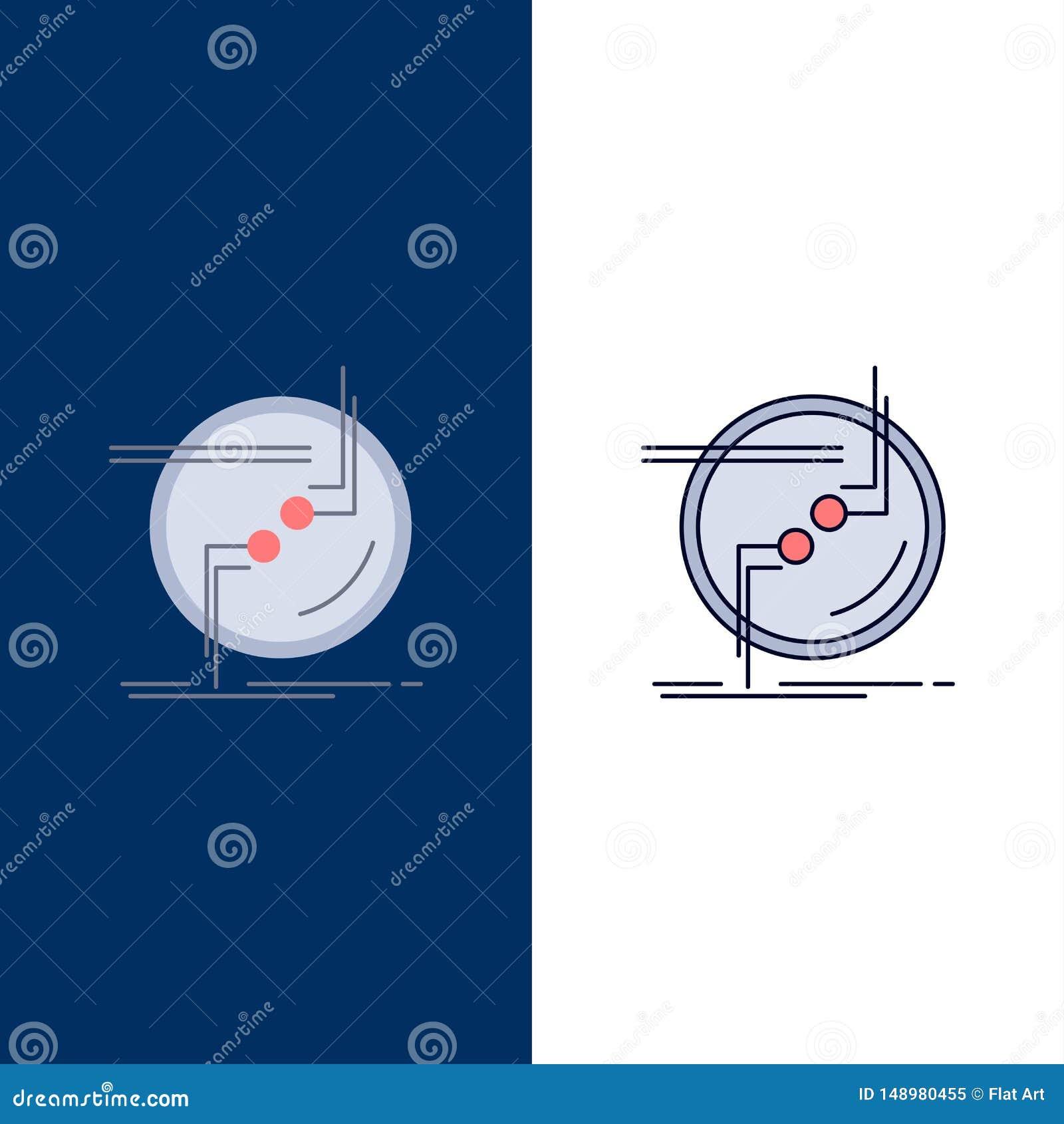 Kedja fast, förbind, anslutning, sammanlänkningen, för färgsymbol för tråd plan vektor