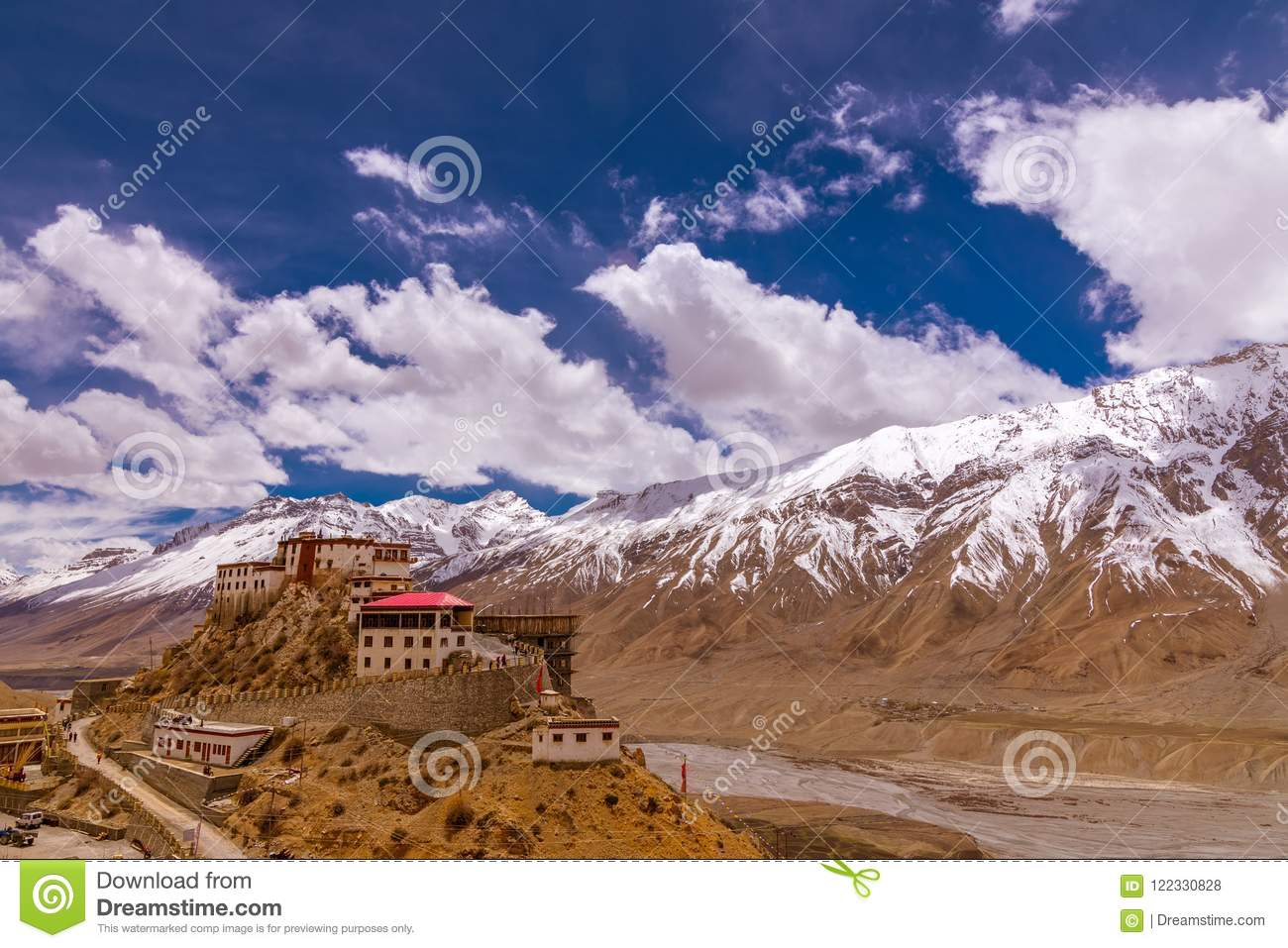 Kee Monastery Spiti Valley Himachal Pradesh India The Middle