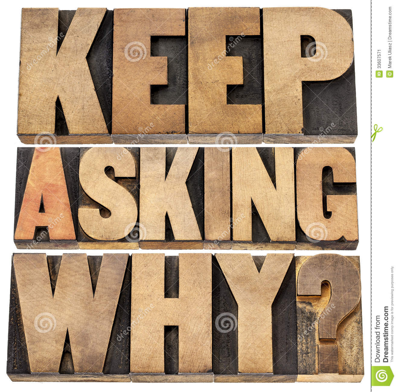 Download Keep asking why stock image. Image of learning, typography - 33607571
