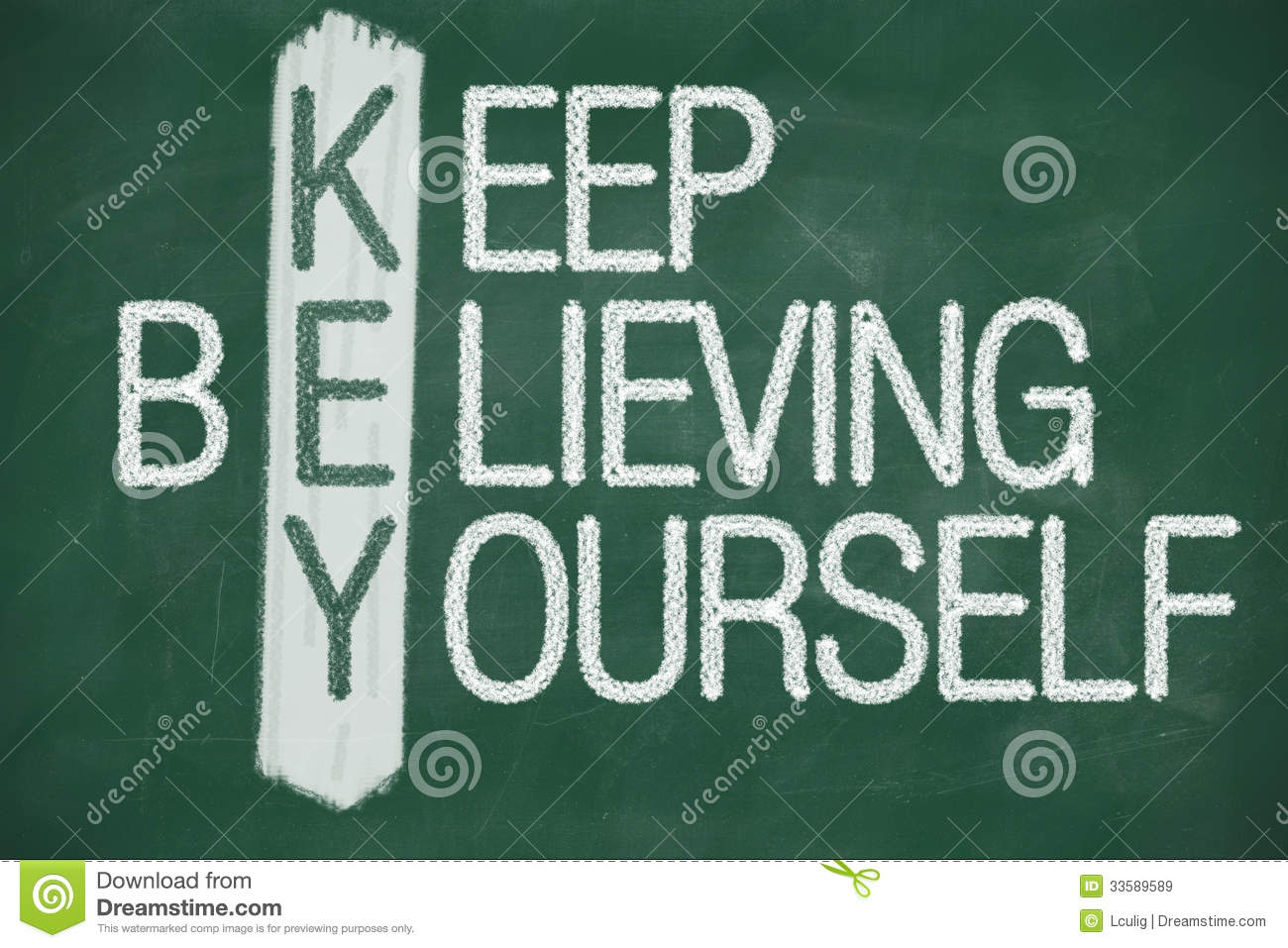 keep believing yourself royalty free stock images