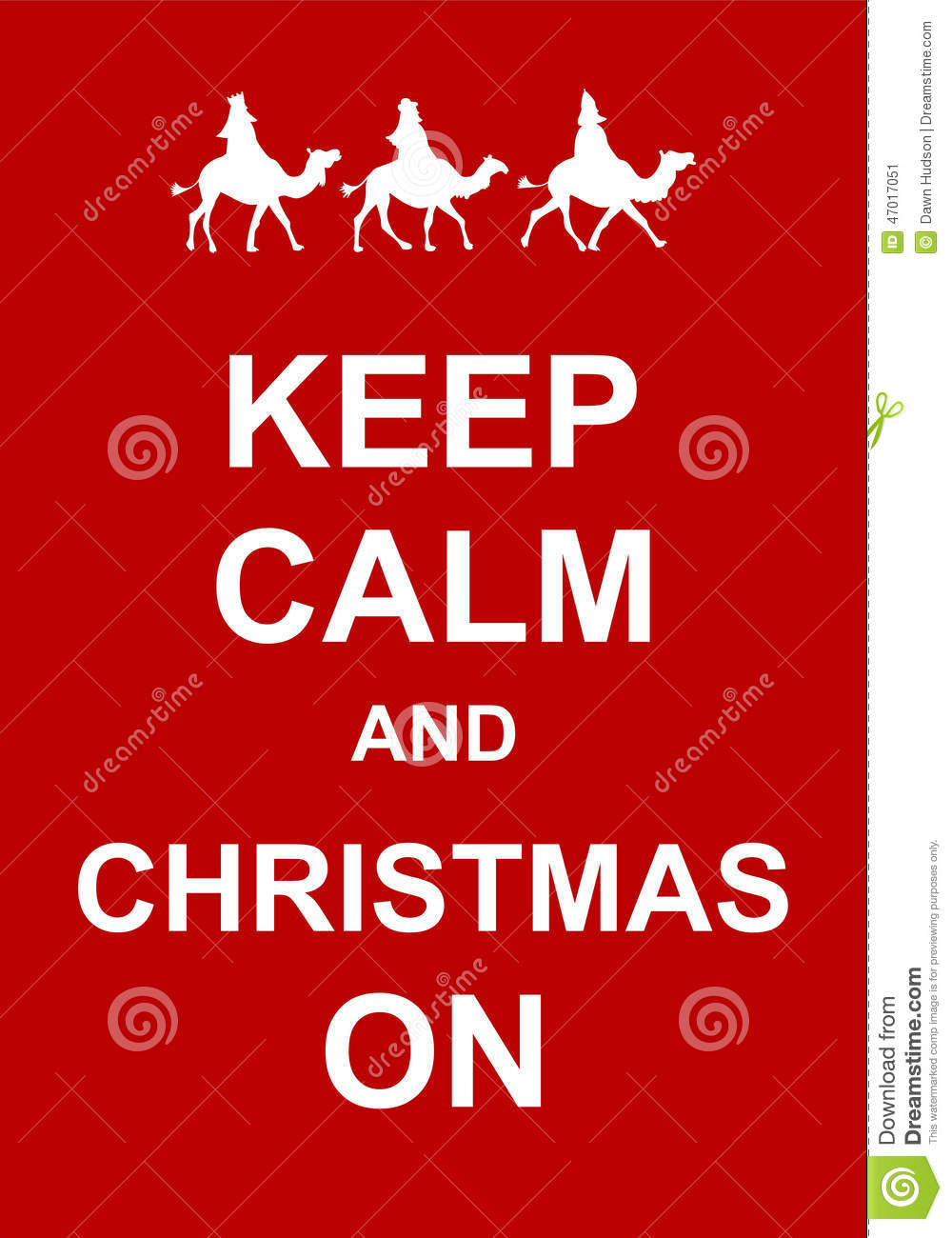 Keep Calm and Christmas On stock illustration. Illustration of green ...