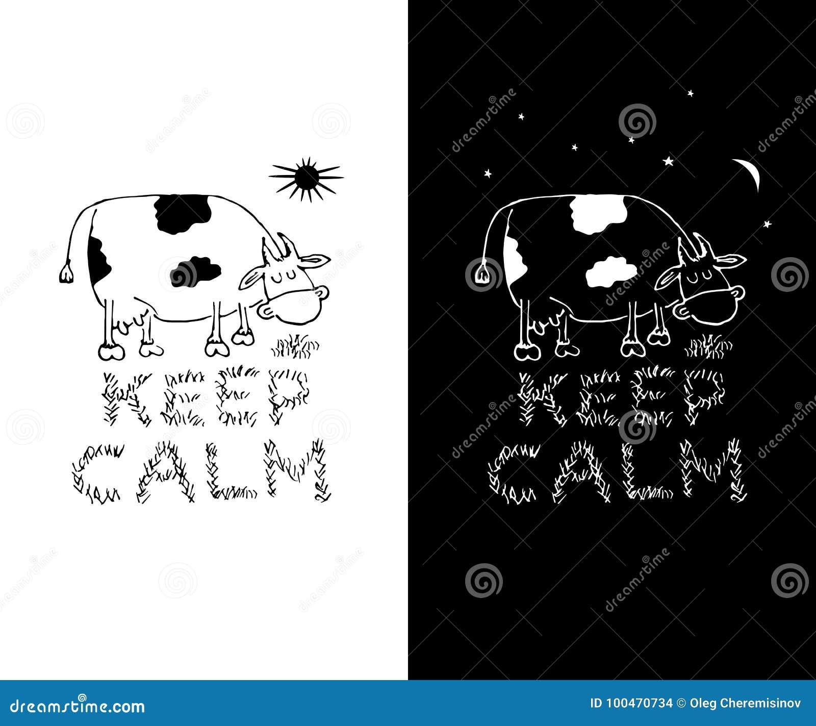 Keep Calm Funny White And Black T Shirt Print Designs Mug Print