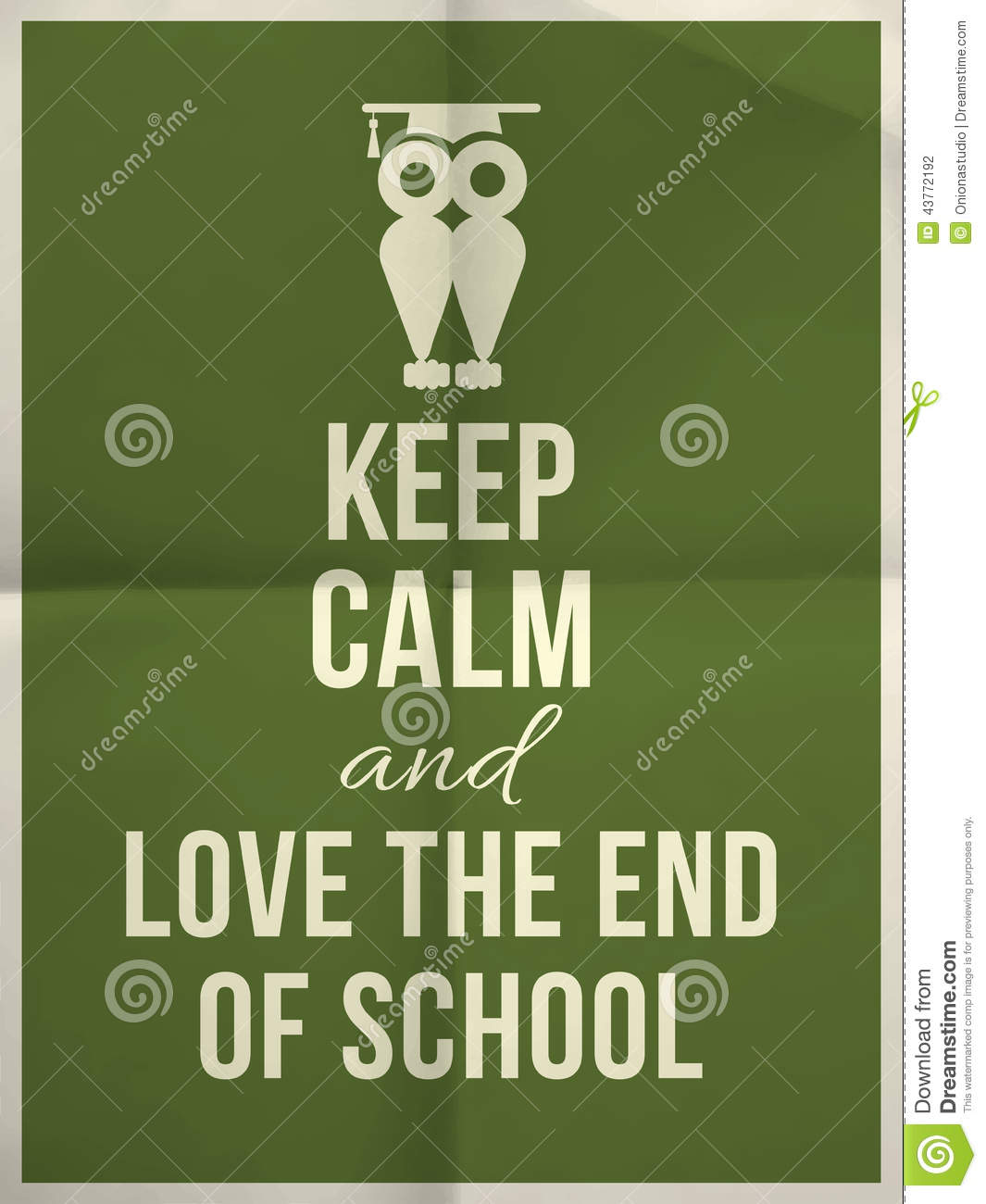 School Time Quotes: Keep Calm And Love End Of School Design Typographic Quote