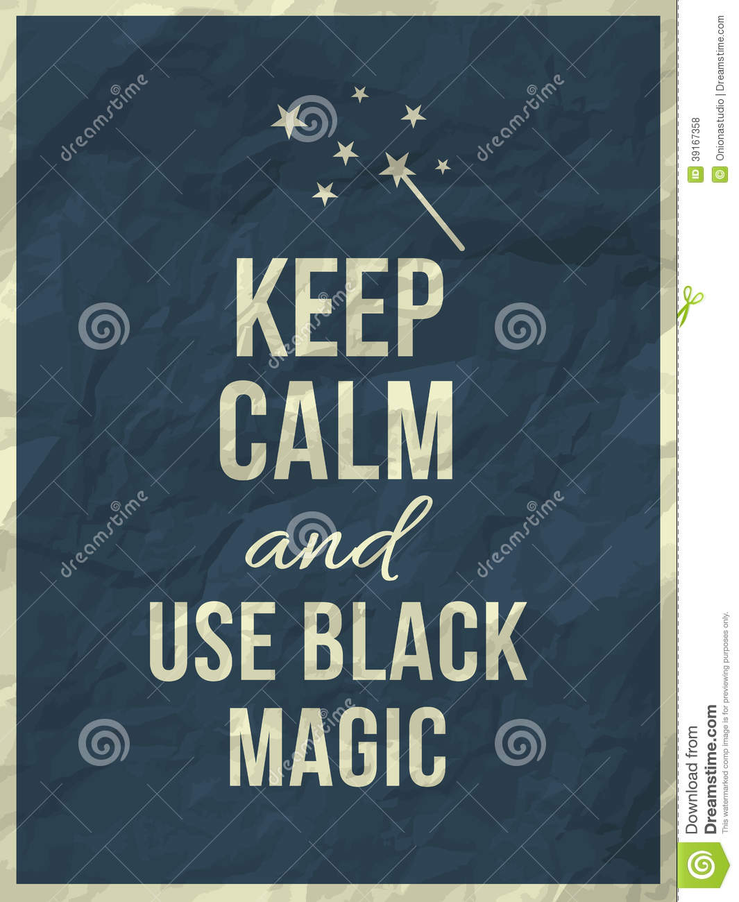 Dow Quotes Real Time: Keep Calm Magic Quote Stock Vector. Illustration Of Frame