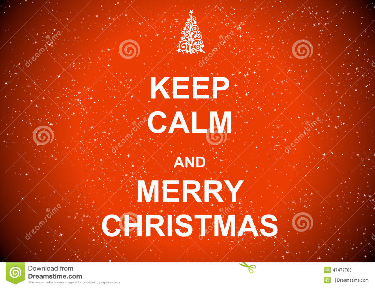 Keep Calm And Merry Christmas Stock Illustration - Illustration of ...