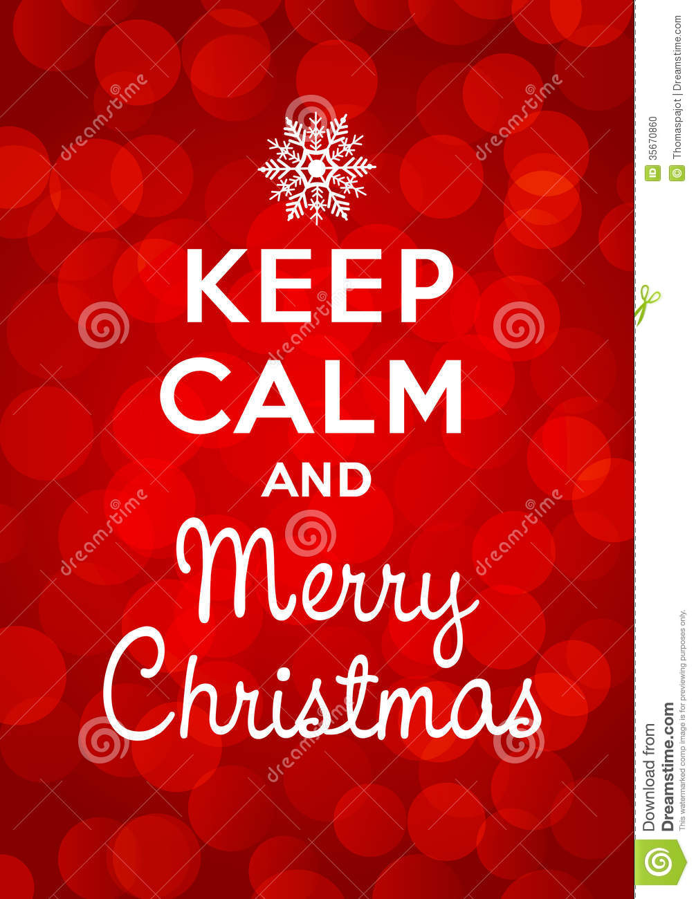 Keep Calm And Merry Christmas Stock Vector - Illustration of merry ...