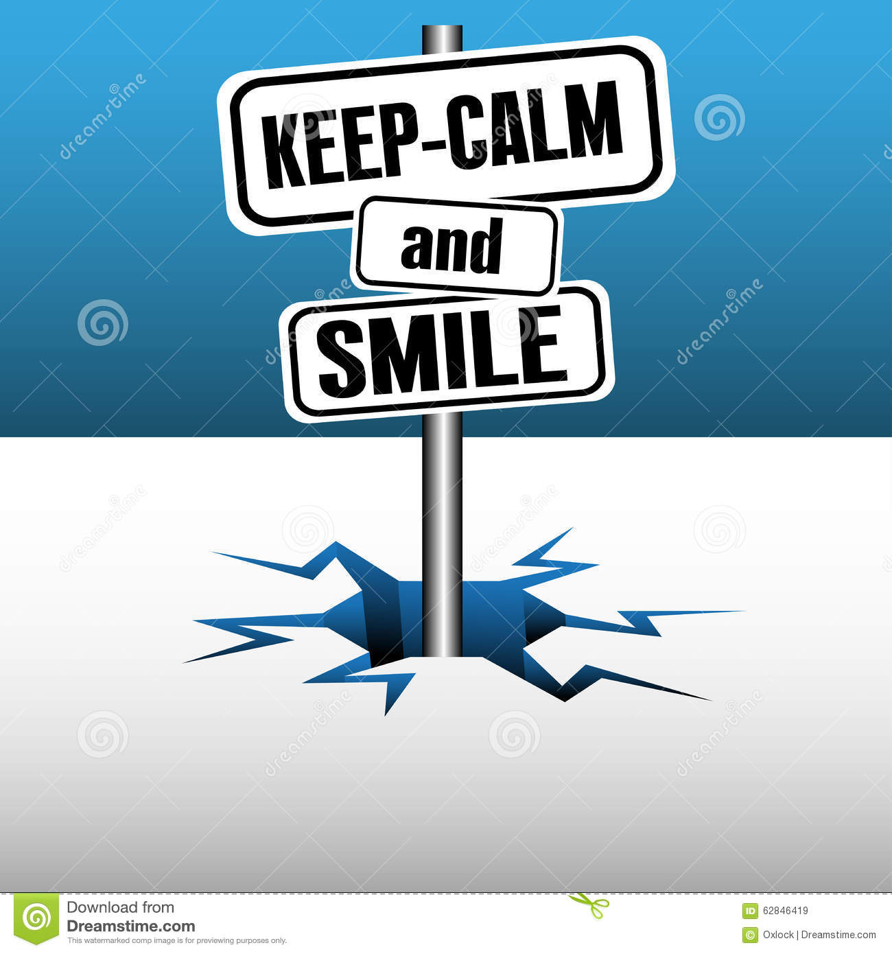 Keep Calm And Smile Quotes: Keep Calm And Smile Stock Vector