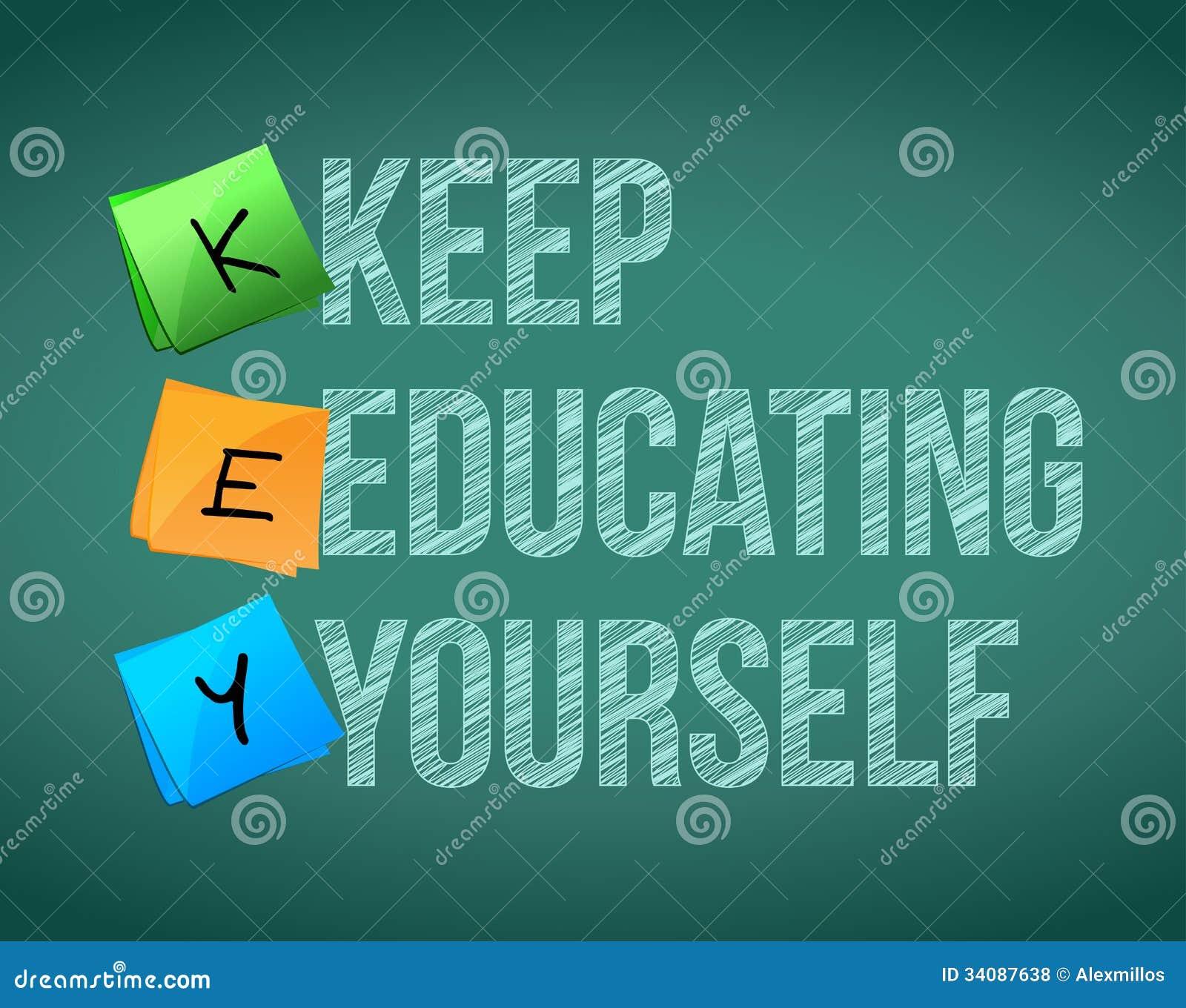 Keep education yourself illustration design