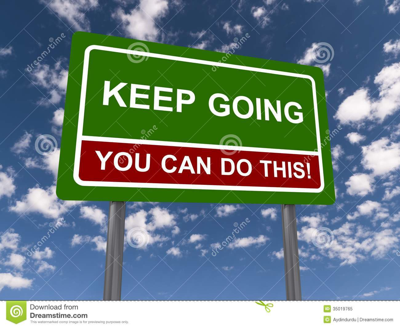 Keep going you can do this stock illustration. Image of ...