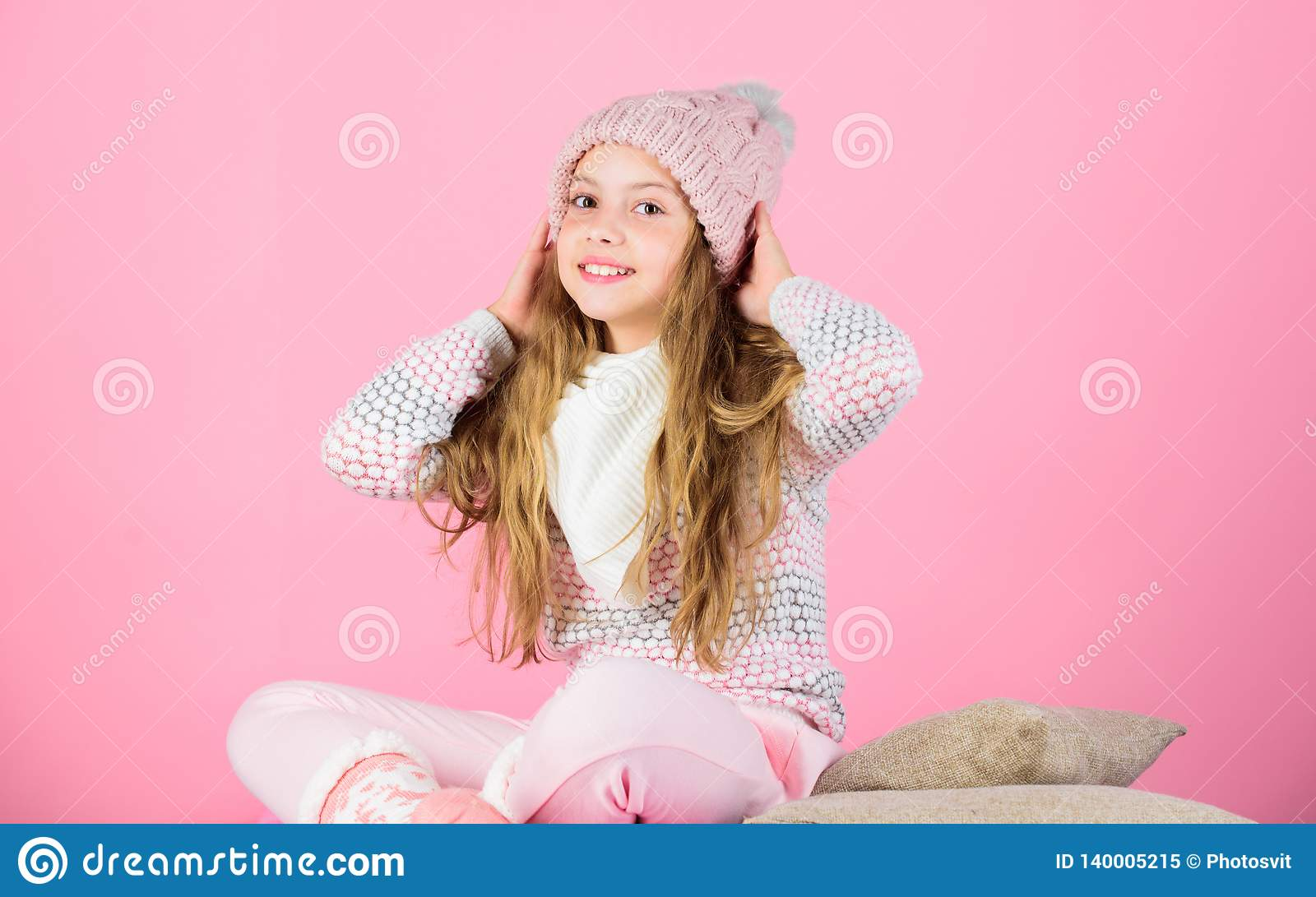 Keep knitwear soft after washing. Soft knitted accessory. Tips for caring for knitted garments. Child long hair warm