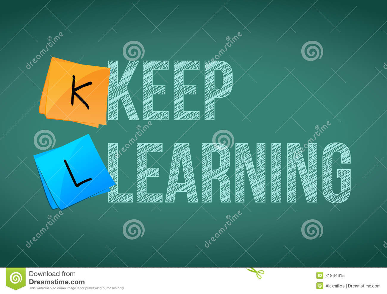 Only Metaphor >> Keep Learning Education Concept Stock Illustration - Illustration of handwriting, improvement ...