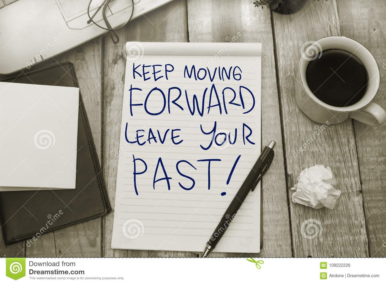 Keep Moving Forward Motivational Text Stock Photo Image Of Idea
