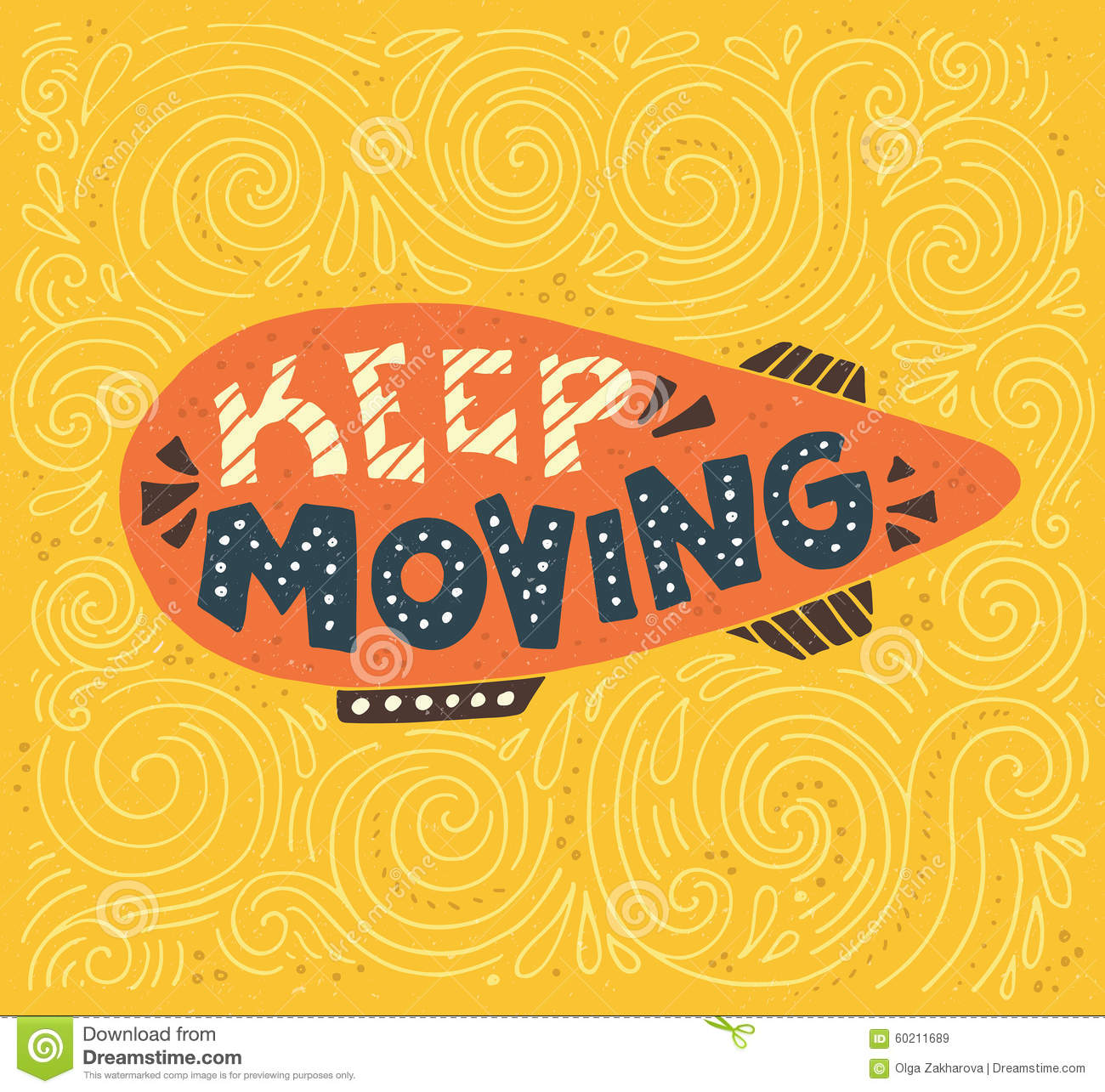 Keep moving stock illustration illustration of inspiration 60211689 keep moving kristyandbryce Image collections